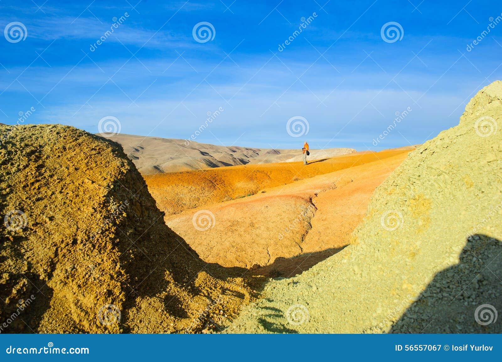 Download Χώμα χρώματος των καταθέσεων υδραργύρου σε Altai Στοκ Εικόνα - εικόνα από κανένας, ρωσία: 56557067