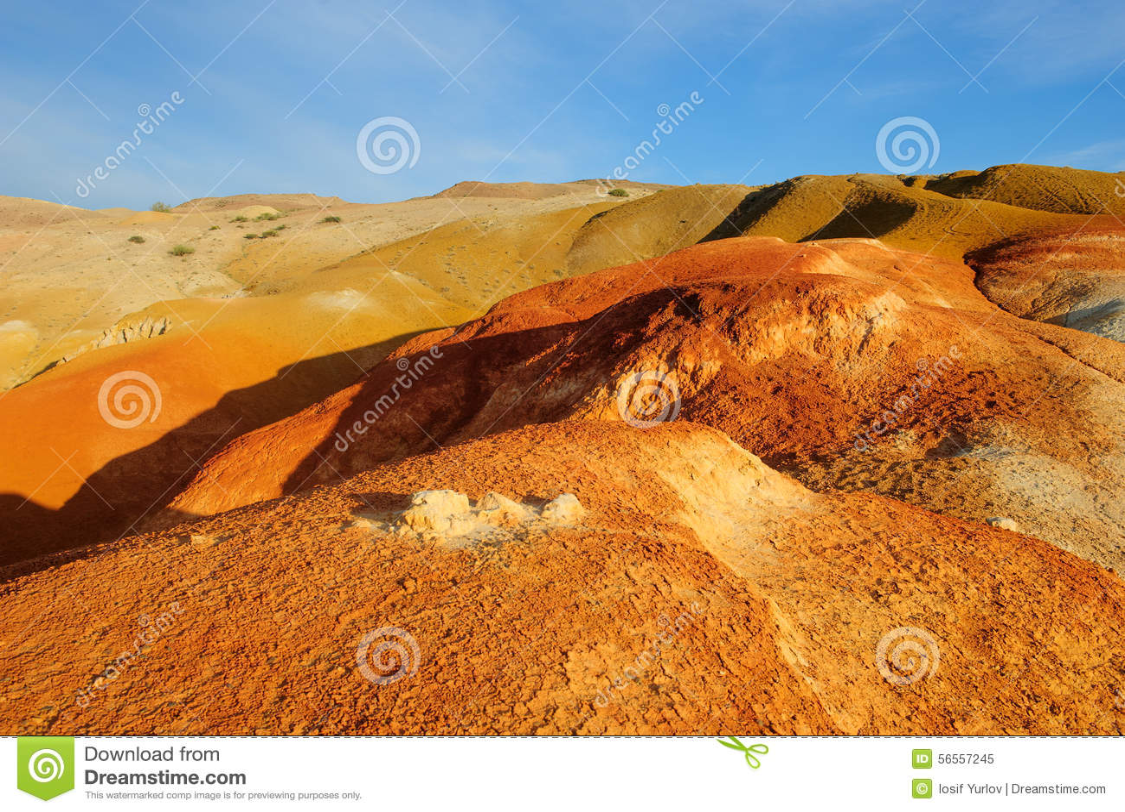 Download Χώμα χρώματος των καταθέσεων υδραργύρου σε Altai Στοκ Εικόνα - εικόνα από κενός, κανένας: 56557245