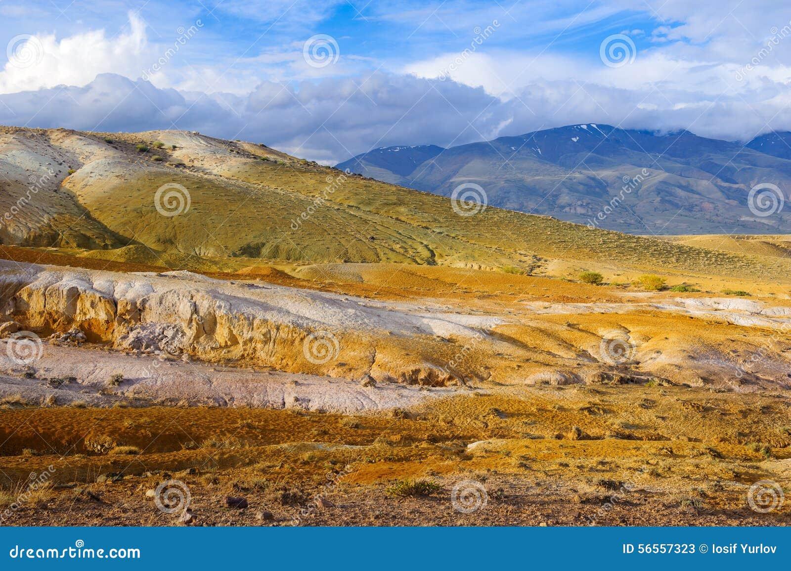 Download Χώμα χρώματος των καταθέσεων υδραργύρου σε Altai Στοκ Εικόνα - εικόνα από κανένας, περιστατικό: 56557323