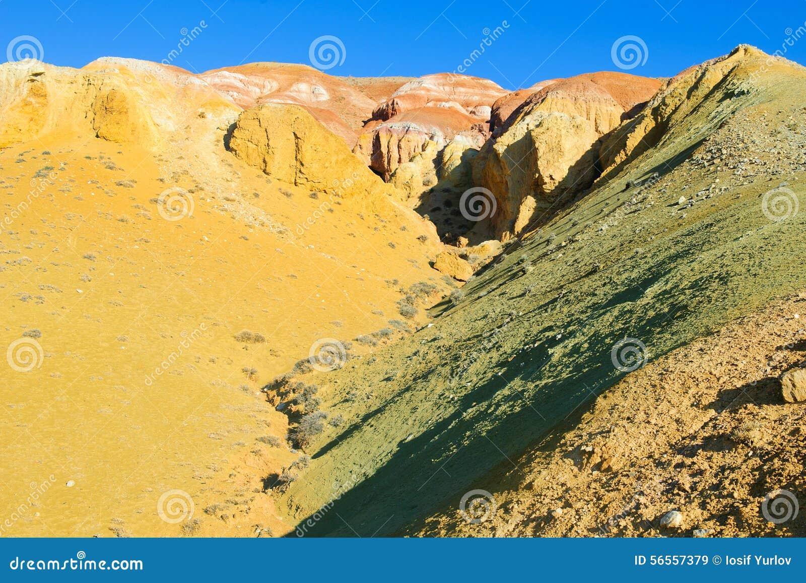 Download Χώμα χρώματος των καταθέσεων υδραργύρου σε Altai Στοκ Εικόνα - εικόνα από κανένας, κενός: 56557379