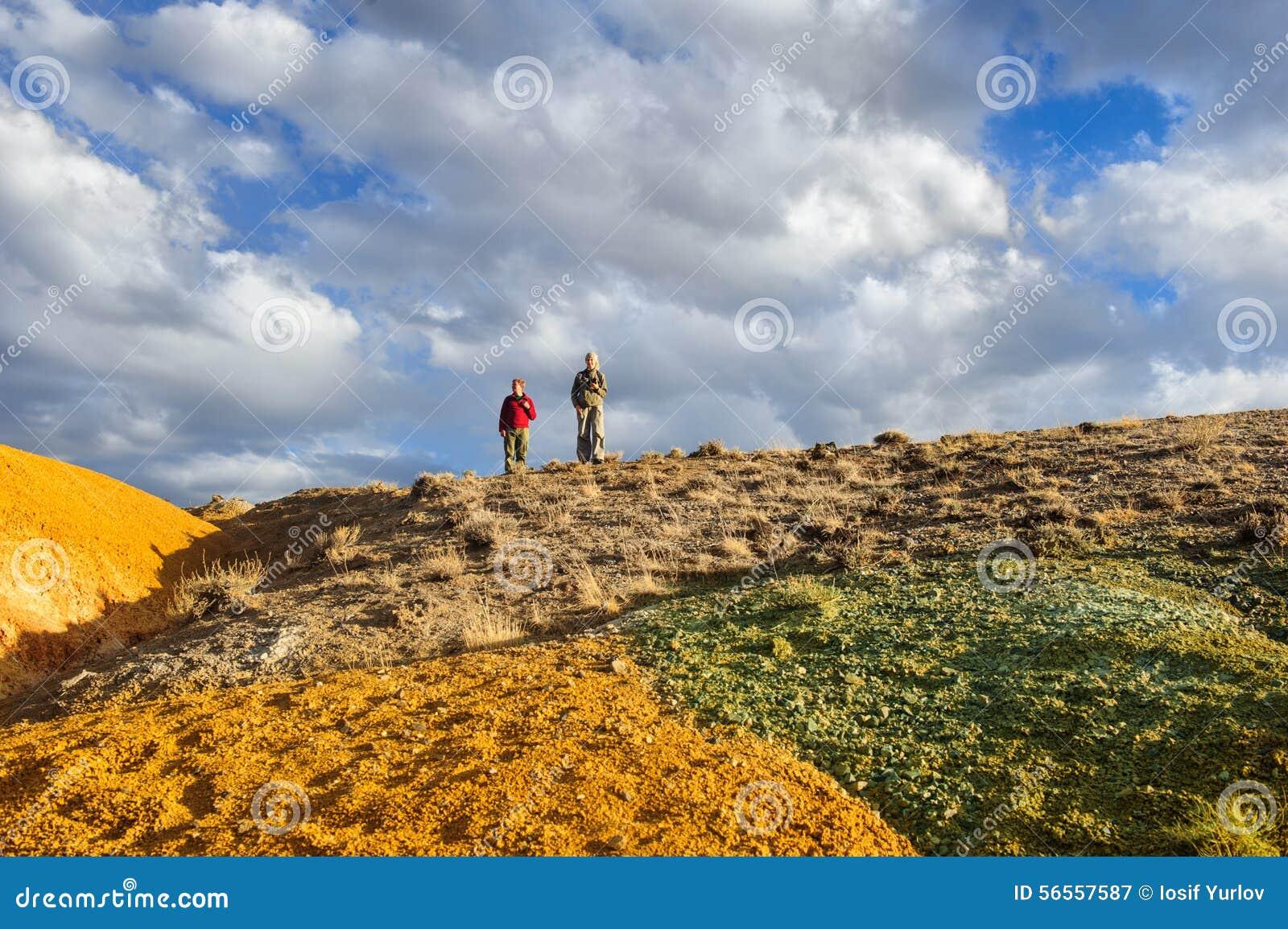 Download Χώμα χρώματος των καταθέσεων υδραργύρου σε Altai Στοκ Εικόνα - εικόνα από αλσατικό, ίζημα: 56557587