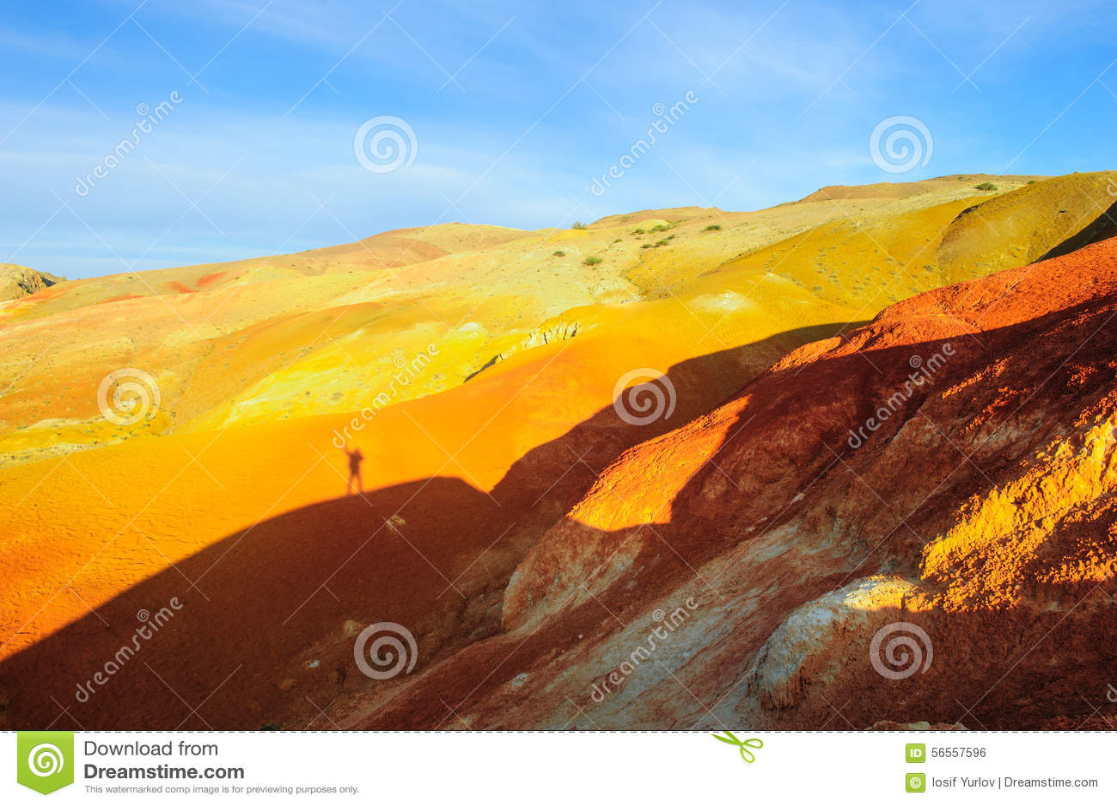 Download Χώμα χρώματος των καταθέσεων υδραργύρου σε Altai Στοκ Εικόνες - εικόνα από αγροτικός, χρωματισμένος: 56557596