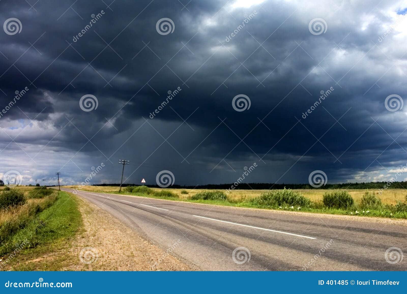 χώρα κοντά στην οδική θύελλα