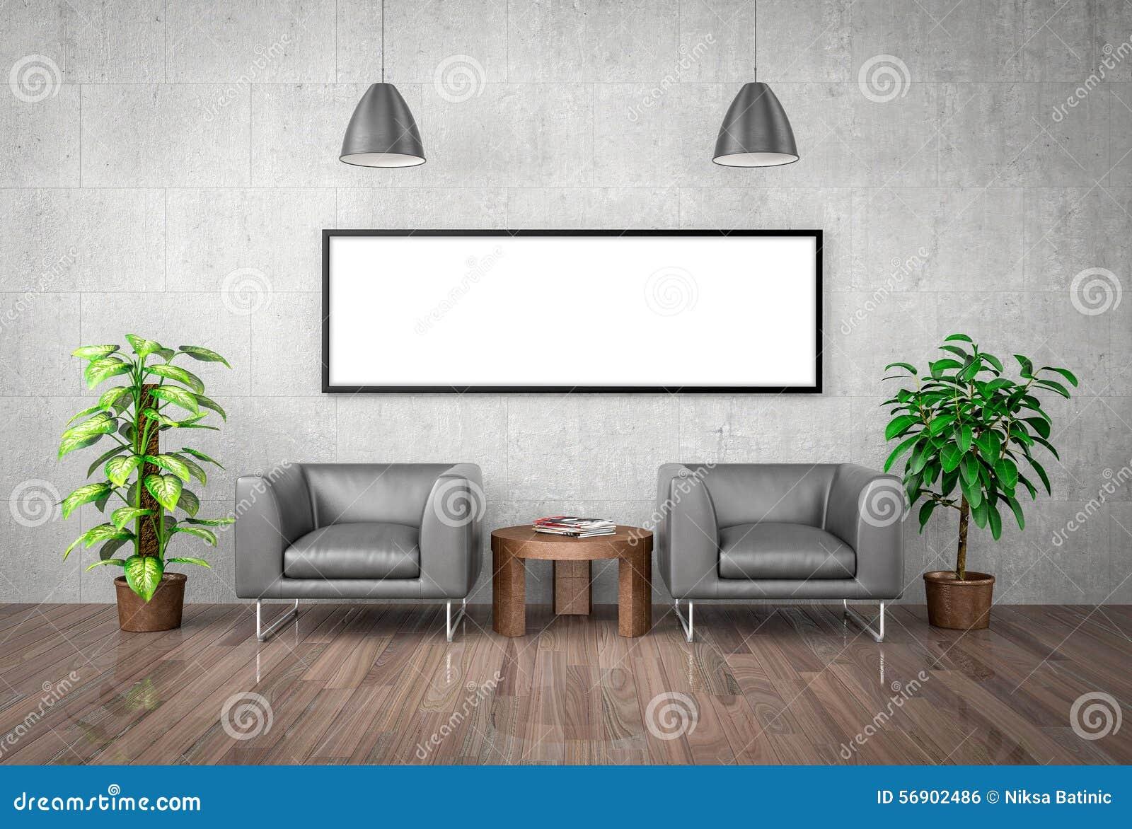 Χλεύη επάνω στην αφίσα στο συμπαγή τοίχο, τρισδιάστατη απεικόνιση