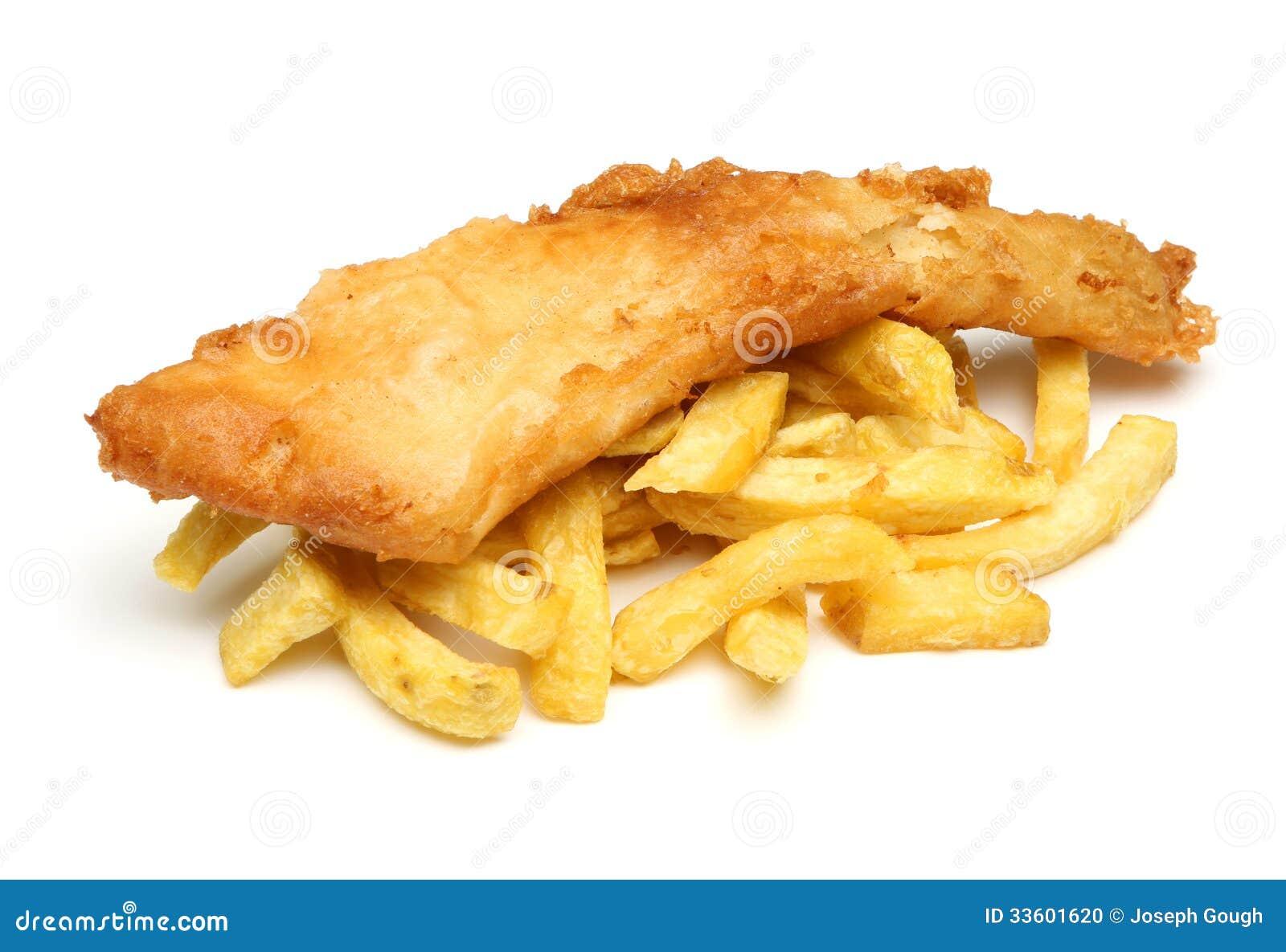 Ψάρια & τσιπ που απομονώνονται
