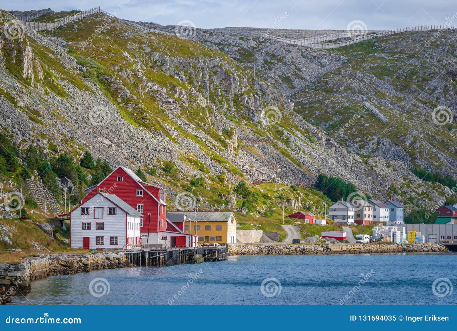 Ψαροχώρι Kjøllefjord σε Finnmark, Νορβηγία