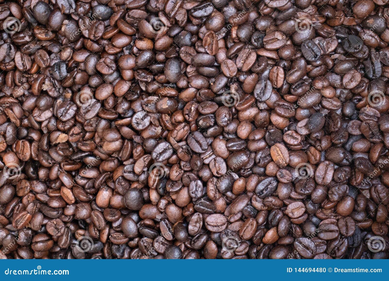 Ψημένα χιλιάδες φασόλια καφέ