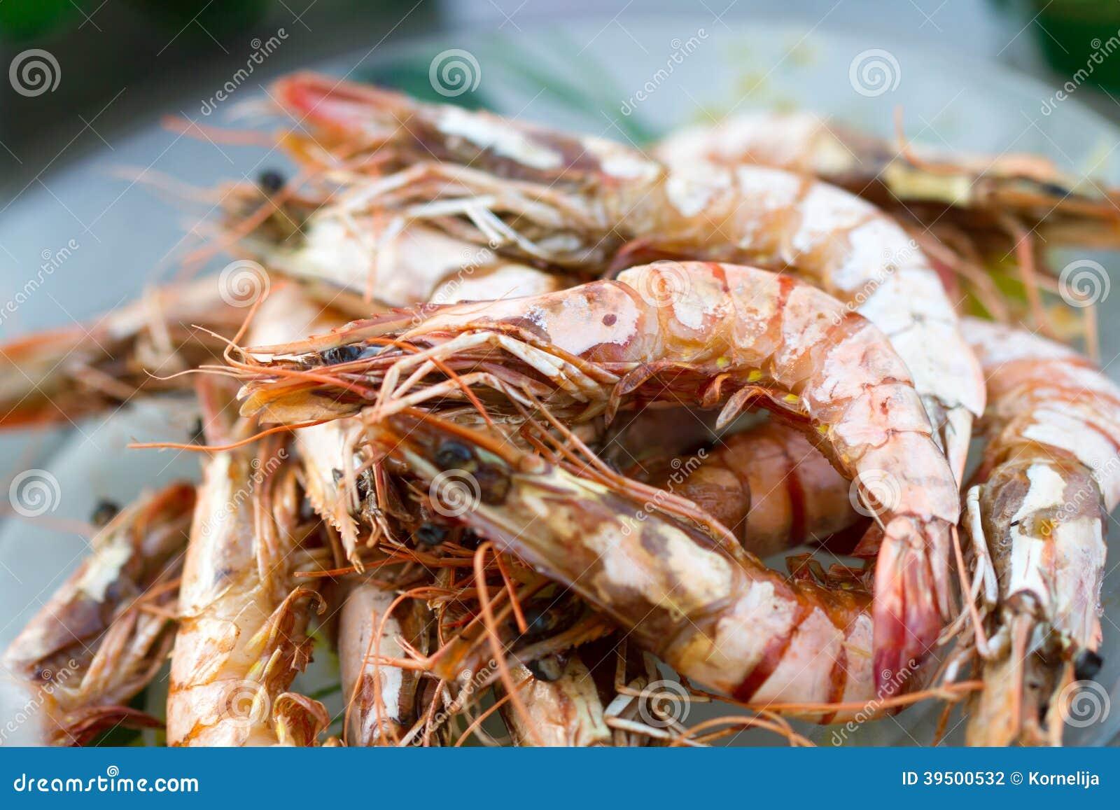 Ψημένες στη σχάρα γαρίδες