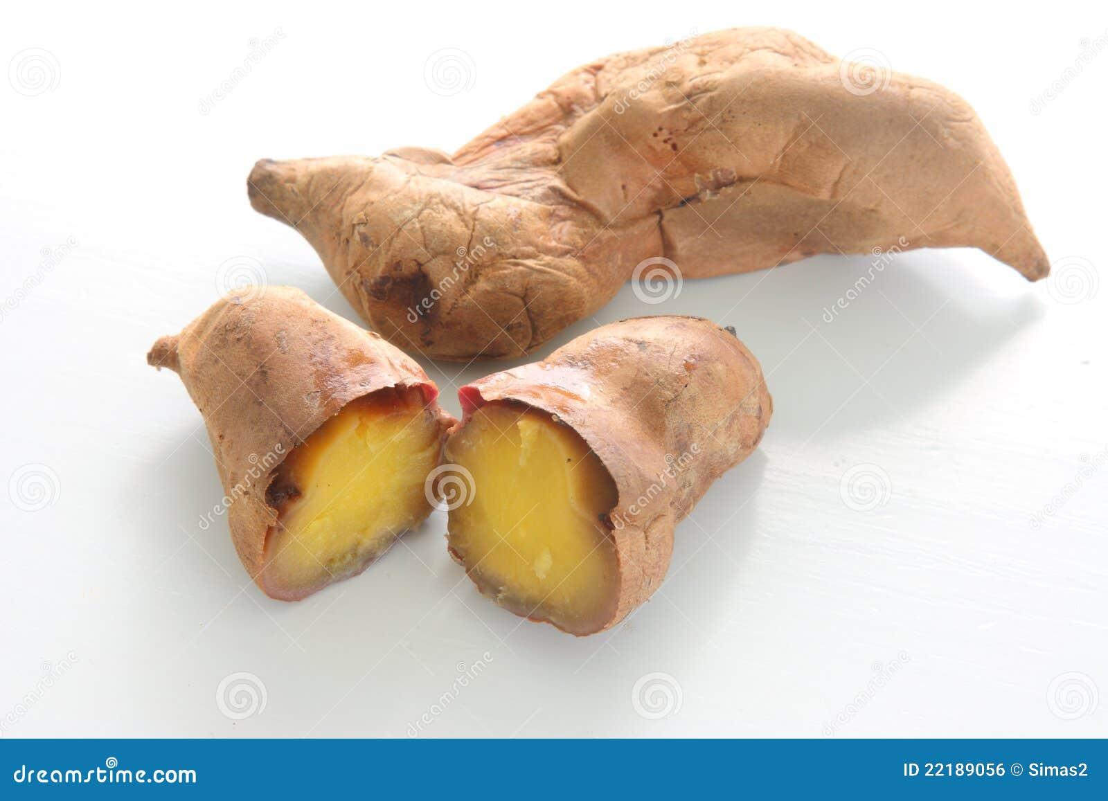 ψημένο γλυκό πατατών