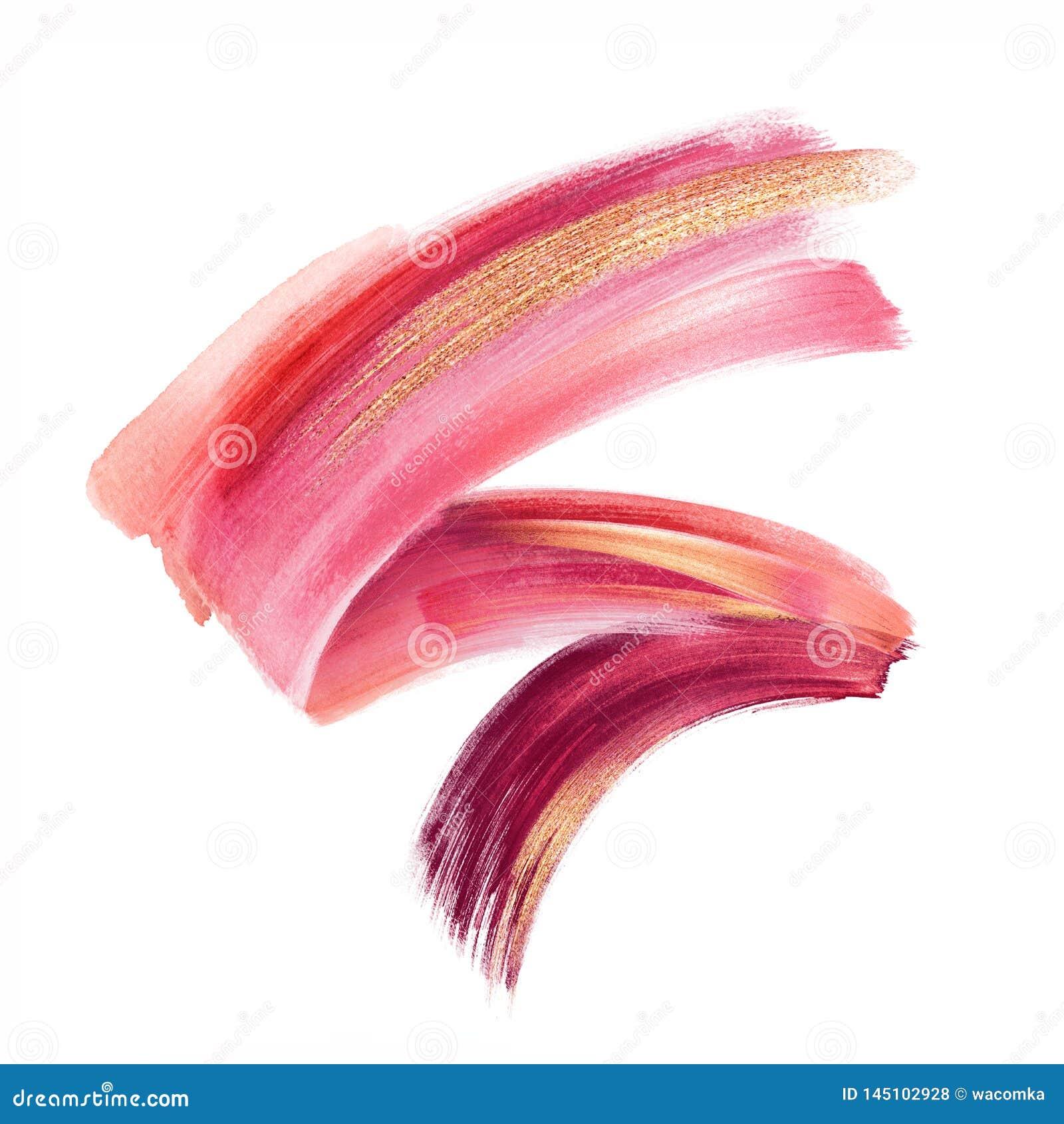 Ψηφιακή απεικόνιση, κόκκινο ρόδινο χρυσό χρώμα, κτύπημα βουρτσών που α