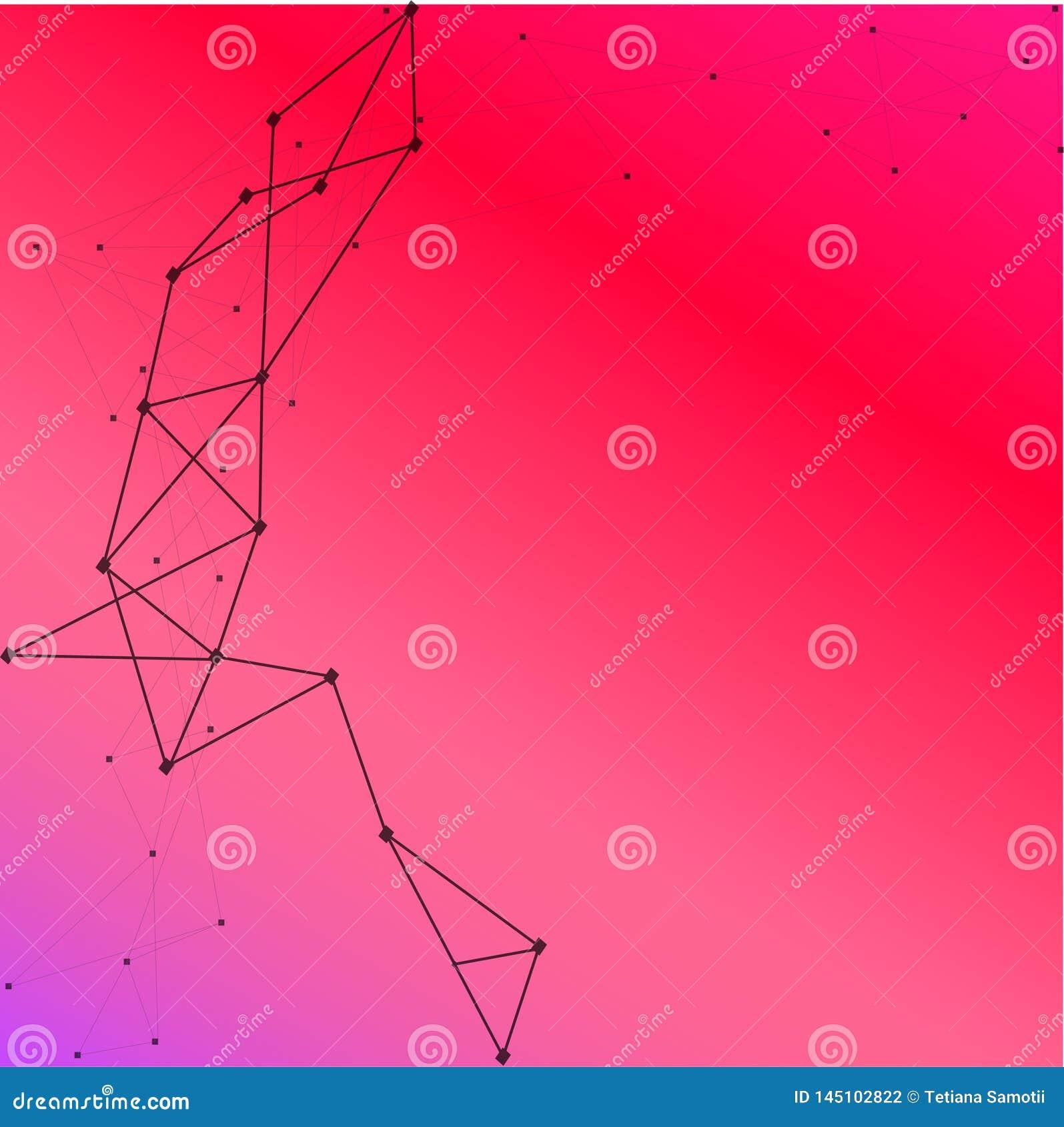 O Διανυσματικό αφηρημένο υπόβαθρο κιβωτίων Σύγχρονη απεικόνιση τεχνολογίας με το τετραγωνικό πλέγμα Ψηφιακή γεωμετρική αφαίρεση μ