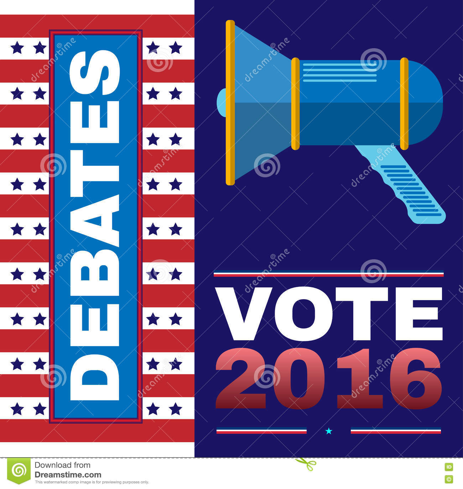 Ψηφιακή διανυσματική αμερικανική εκλογή με προεδρικό