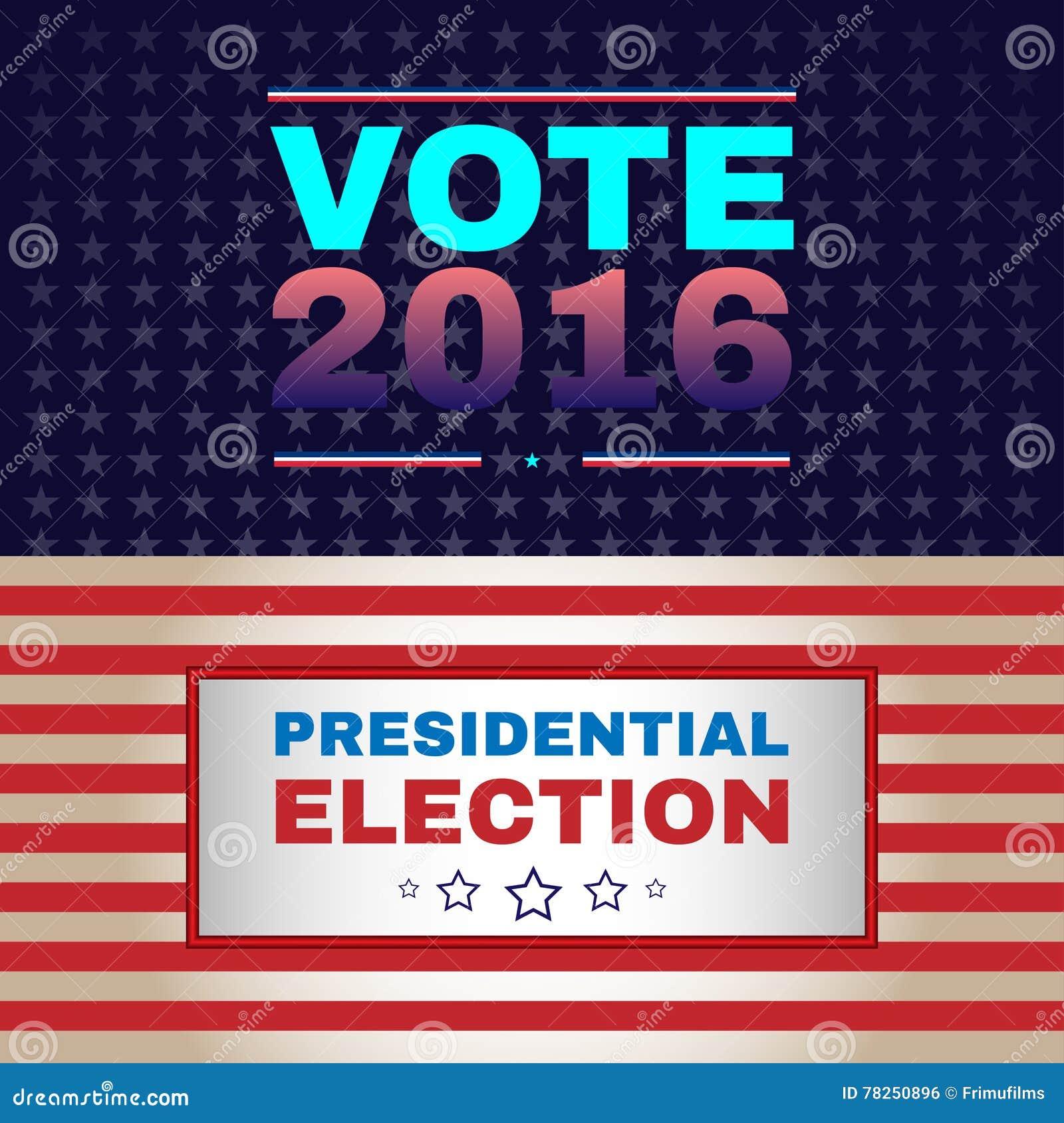 Ψηφιακή διανυσματική αμερικανική εκλογή με το 2016