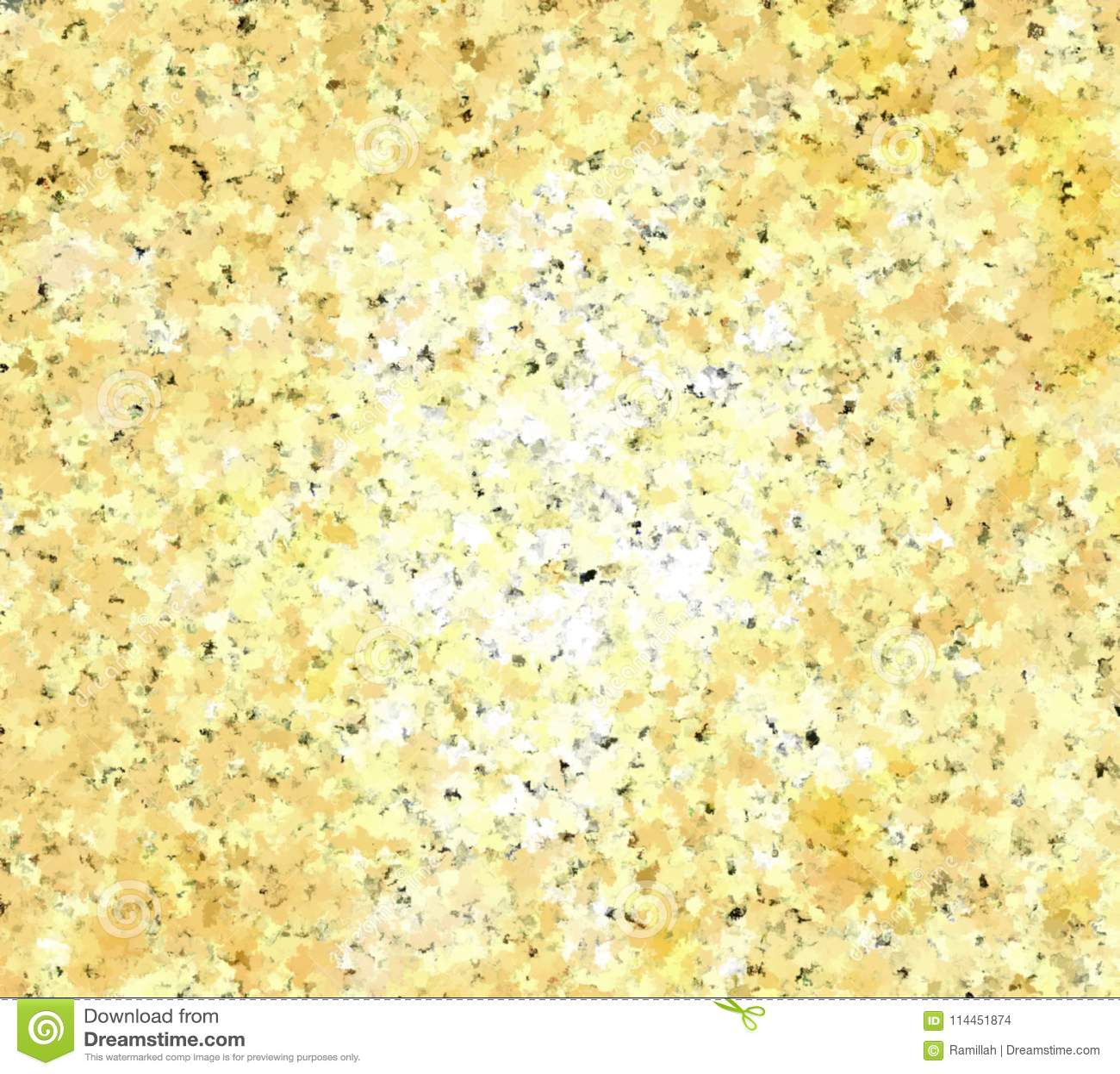 Ψηφιακή σύσταση γρανίτη ζωγραφικής αφηρημένη στο ανοικτό κίτρινο μπεζ υπόβαθρο χρώματος