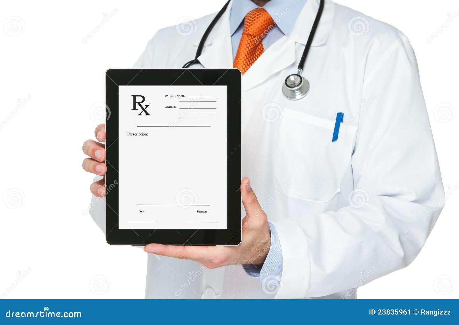 ψηφιακή ταμπλέτα συνταγών εκμετάλλευσης γιατρών