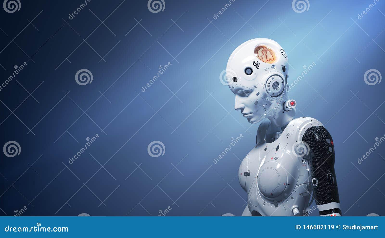 ψηφιακός κόσμος γυναικών sci-Fi