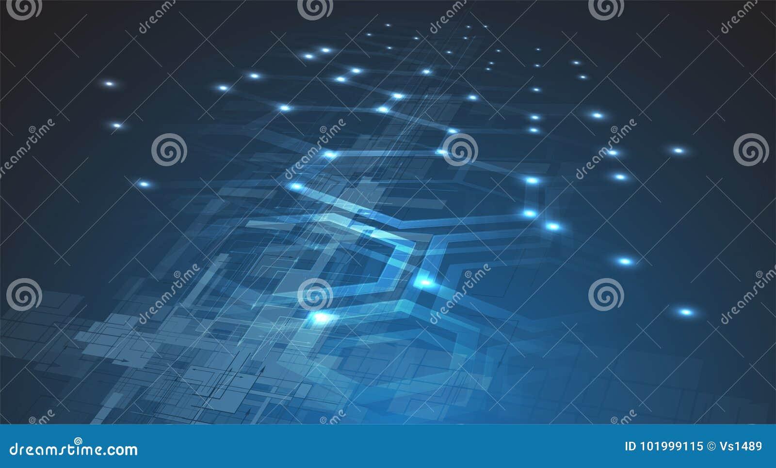 Ψηφιακός κόσμος τεχνολογίας Επιχειρησιακή εικονική έννοια Διάνυσμα backg