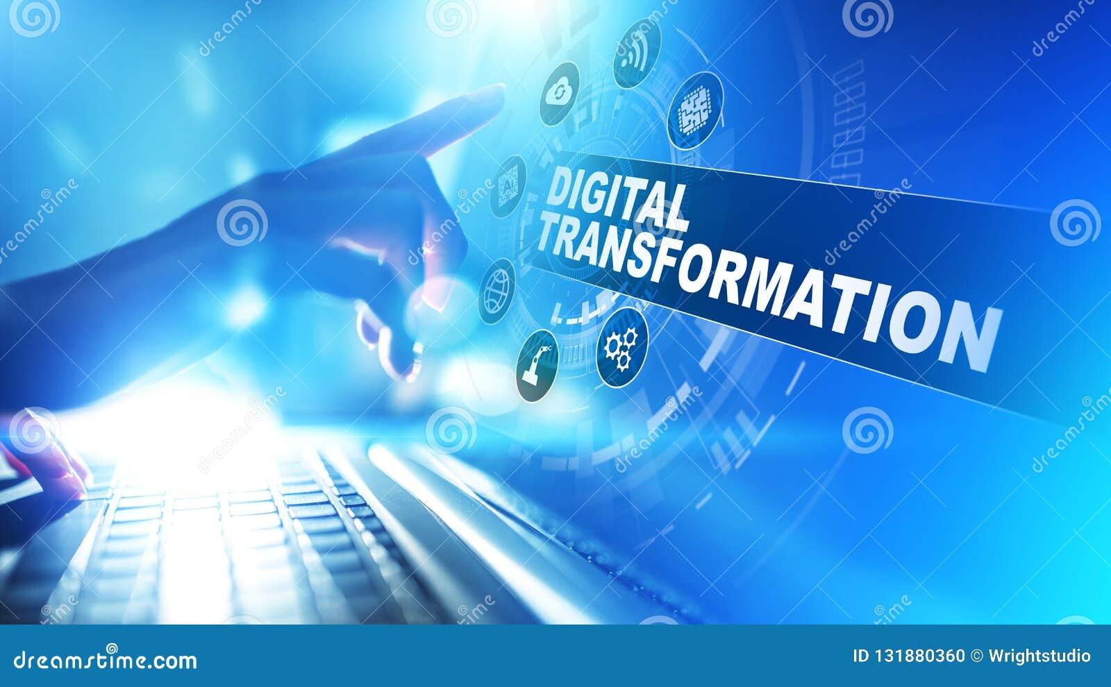 Ψηφιακός μετασχηματισμός, διάσπαση, καινοτομία Επιχείρηση και σύγχρονη έννοια τεχνολογίας
