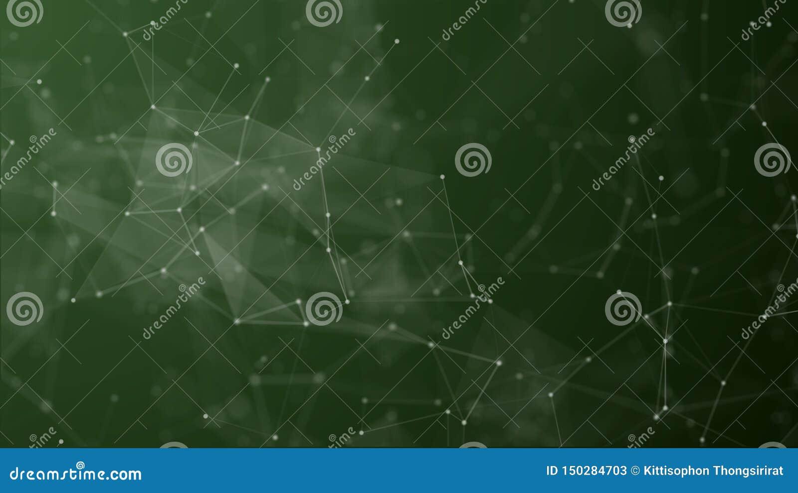 Ψηφιακός φουτουριστικός της σύνδεσης σημείων και γραμμών