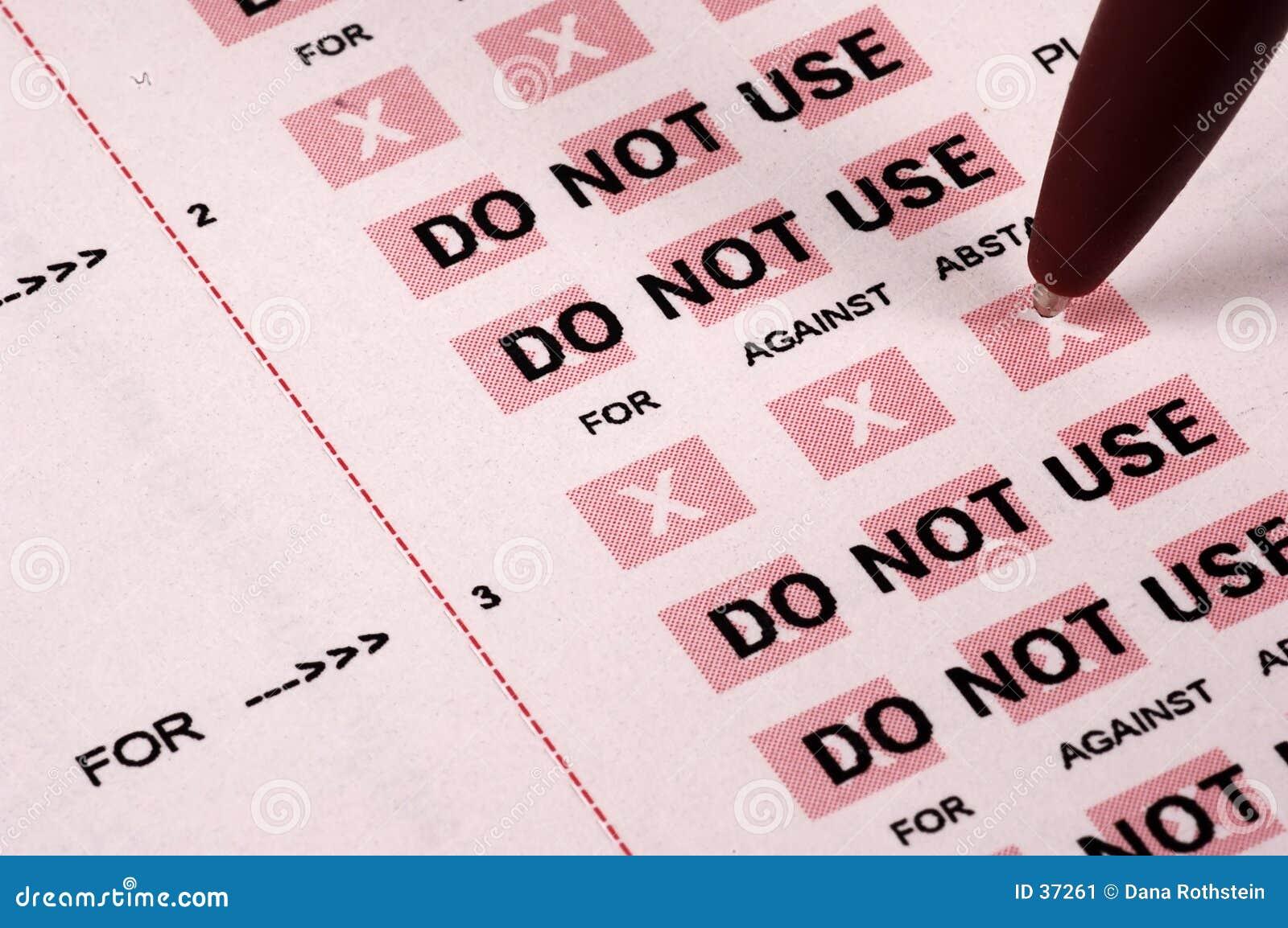 ψηφοφορία πληρεξούσιου
