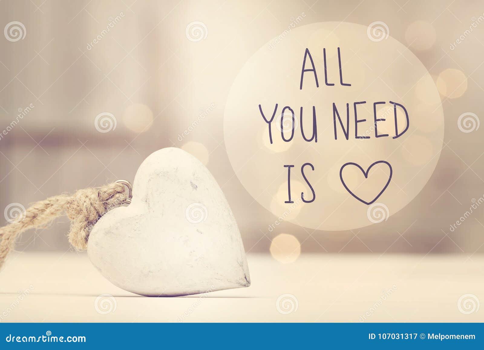 Όλο που χρειάζεστε είναι μήνυμα αγάπης με μια άσπρη καρδιά