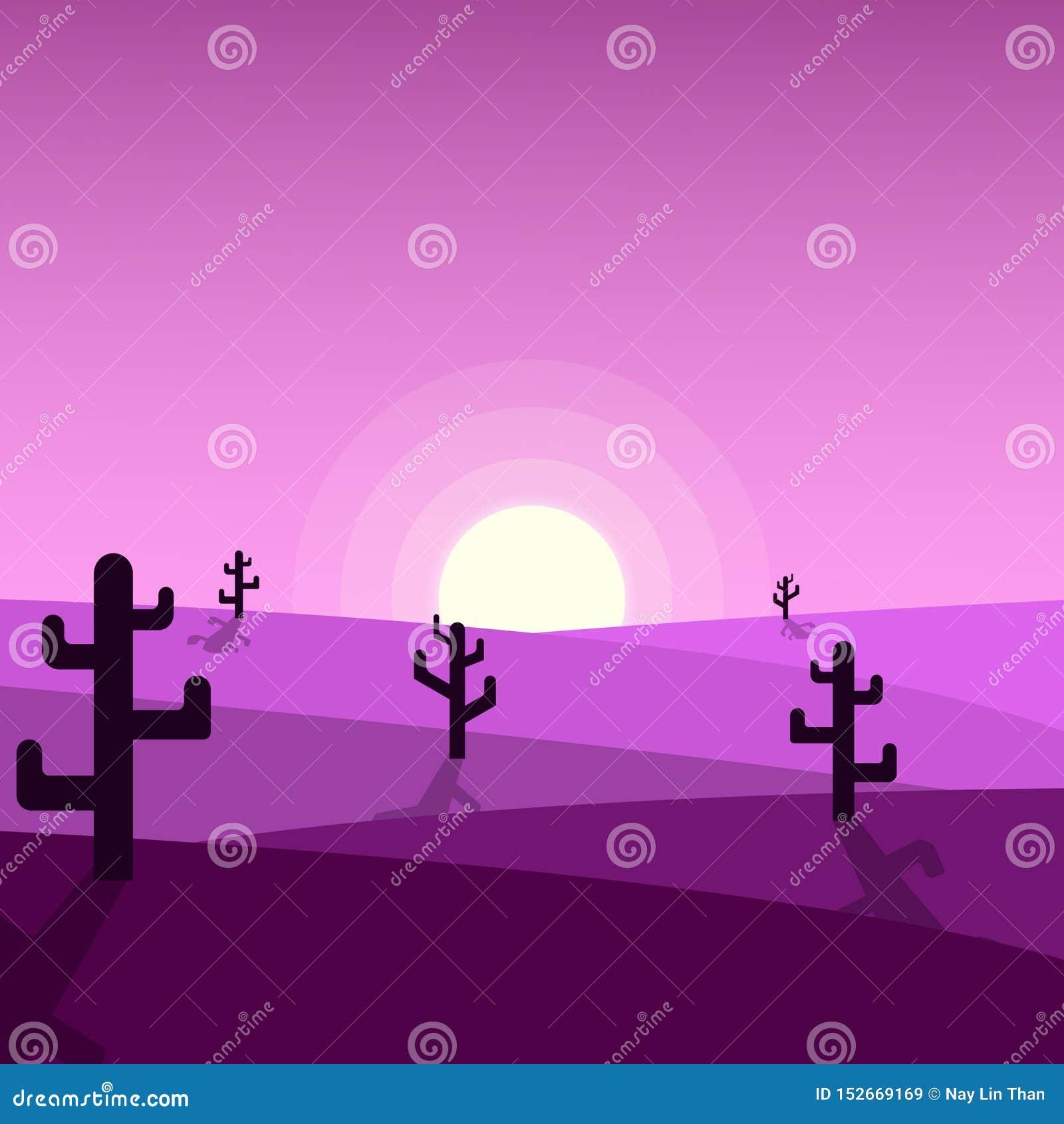 Όμορφες απεικονίσεις ηλιοβασιλέματος ερήμων