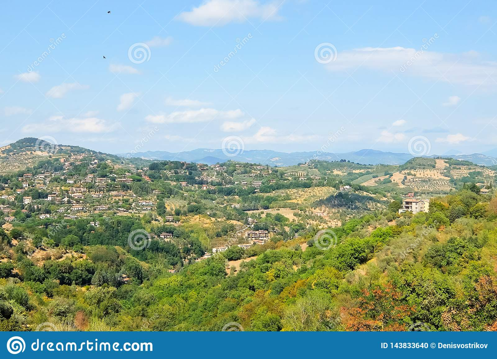 Όμορφη άποψη από το λόφο της Περούτζια