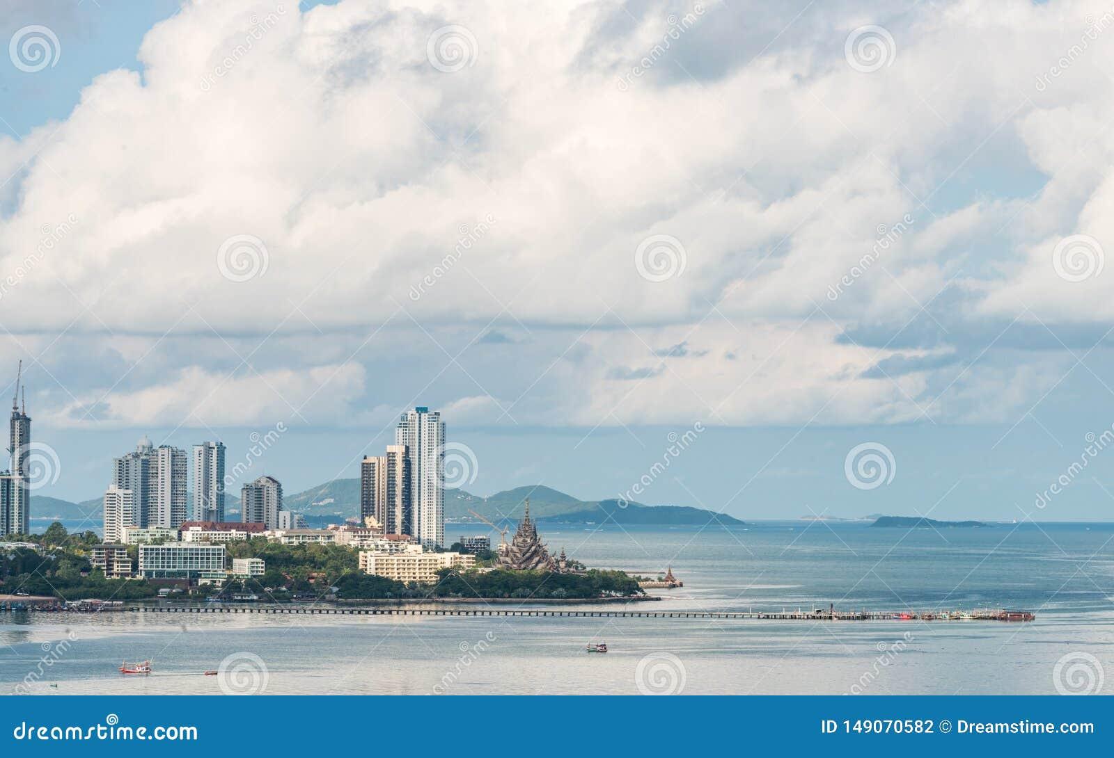 Όμορφη άποψη πόλεων Pattaya