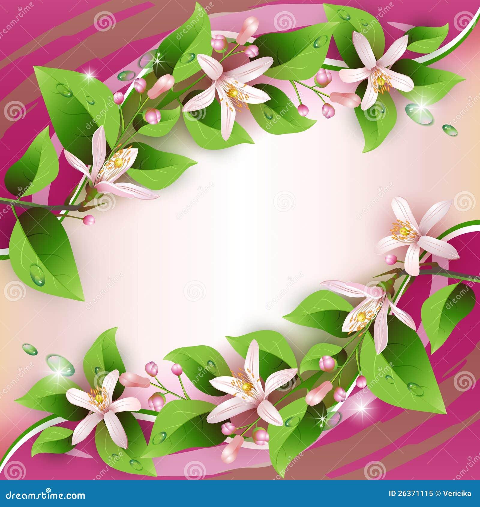 Όμορφη ανασκόπηση με τα λεπτά λουλούδια
