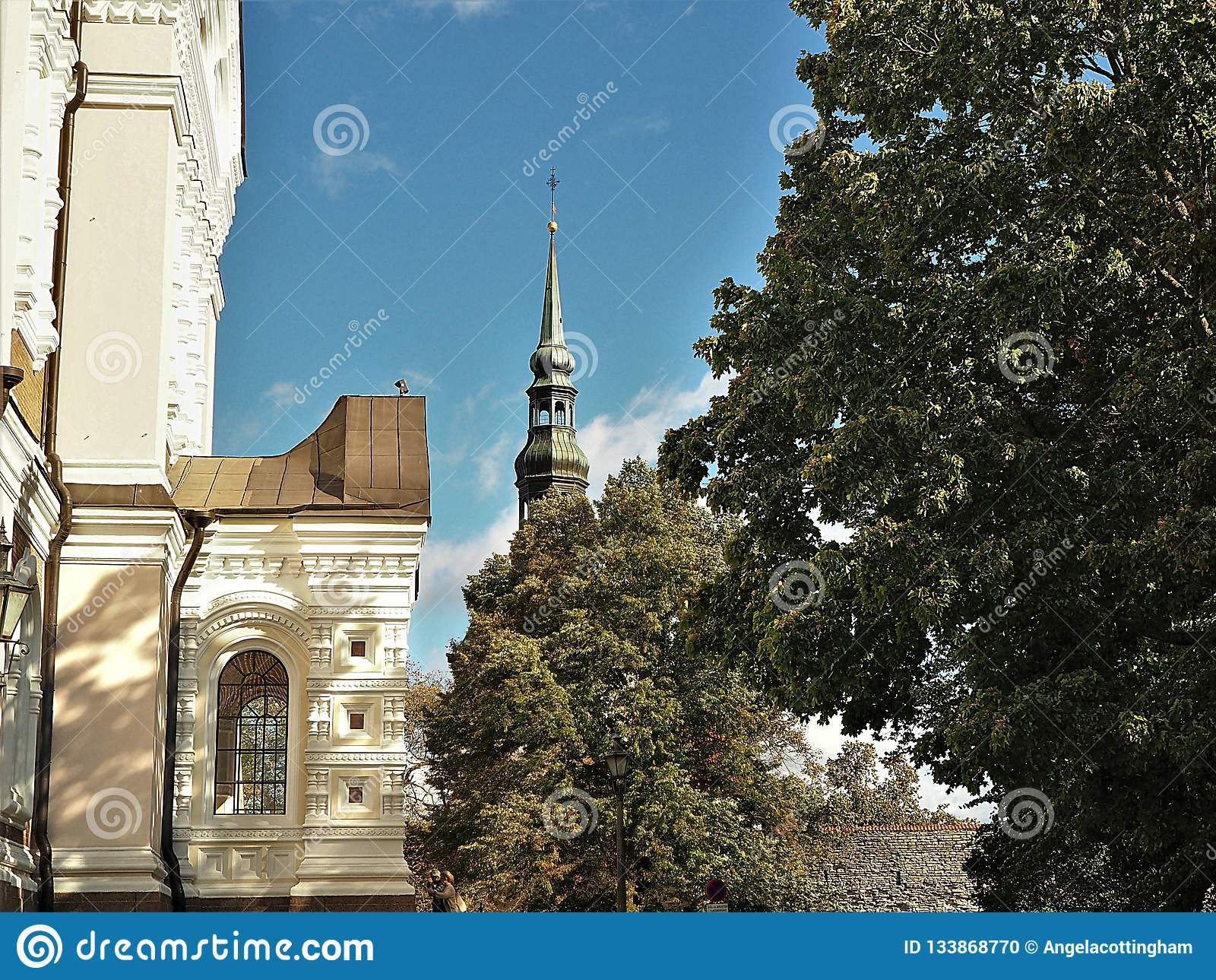 Όμορφη αρχιτεκτονική στην παλαιά πόλη του Ταλίν, Εσθονία