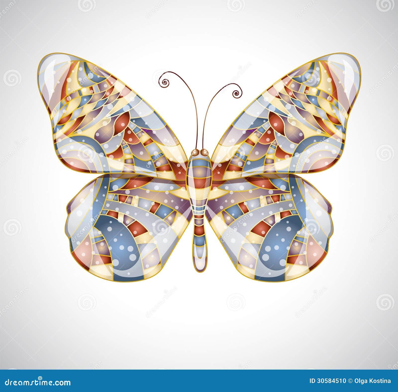 Όμορφη αφηρημένη πεταλούδα.