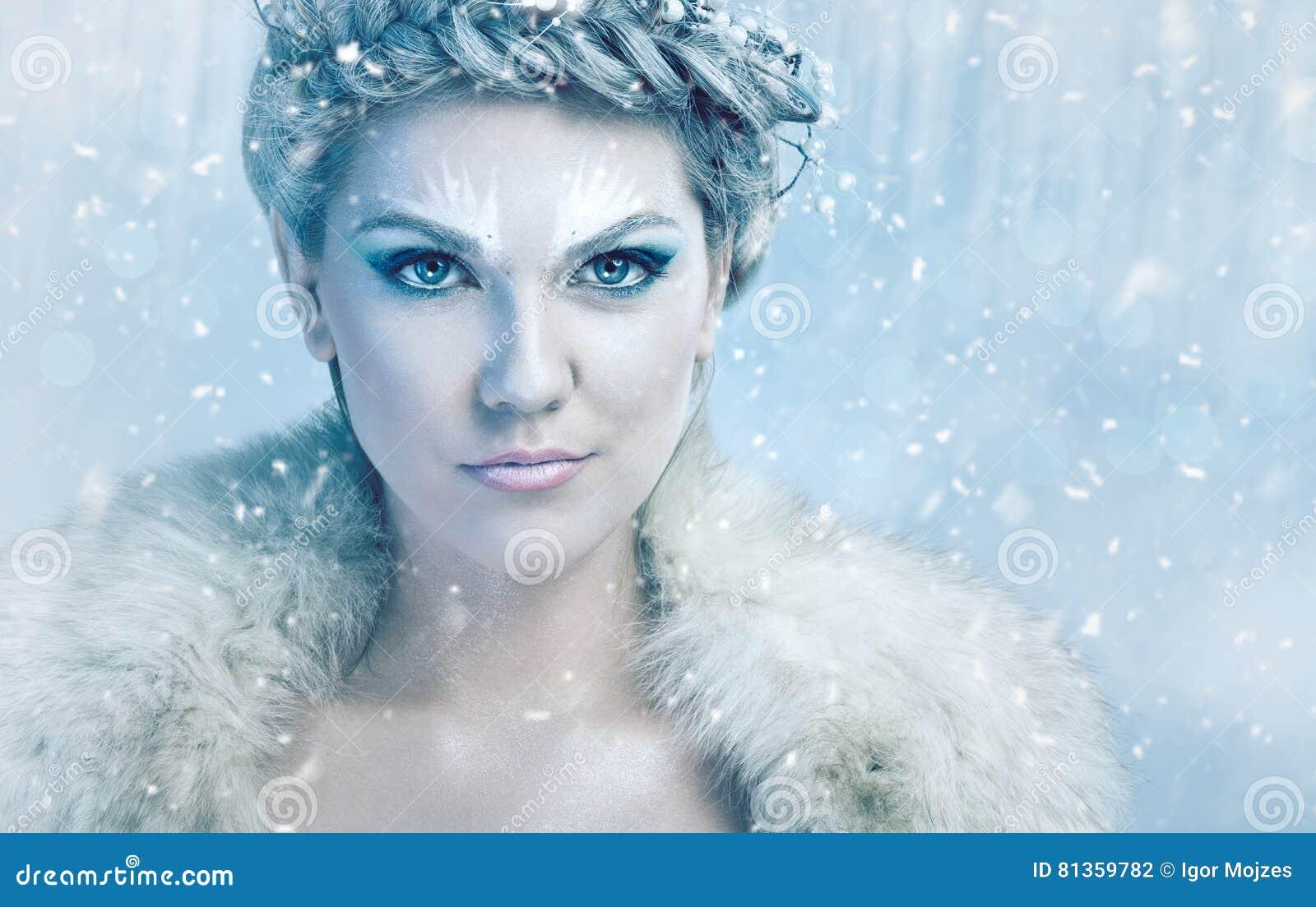 όμορφη βασίλισσα πάγου