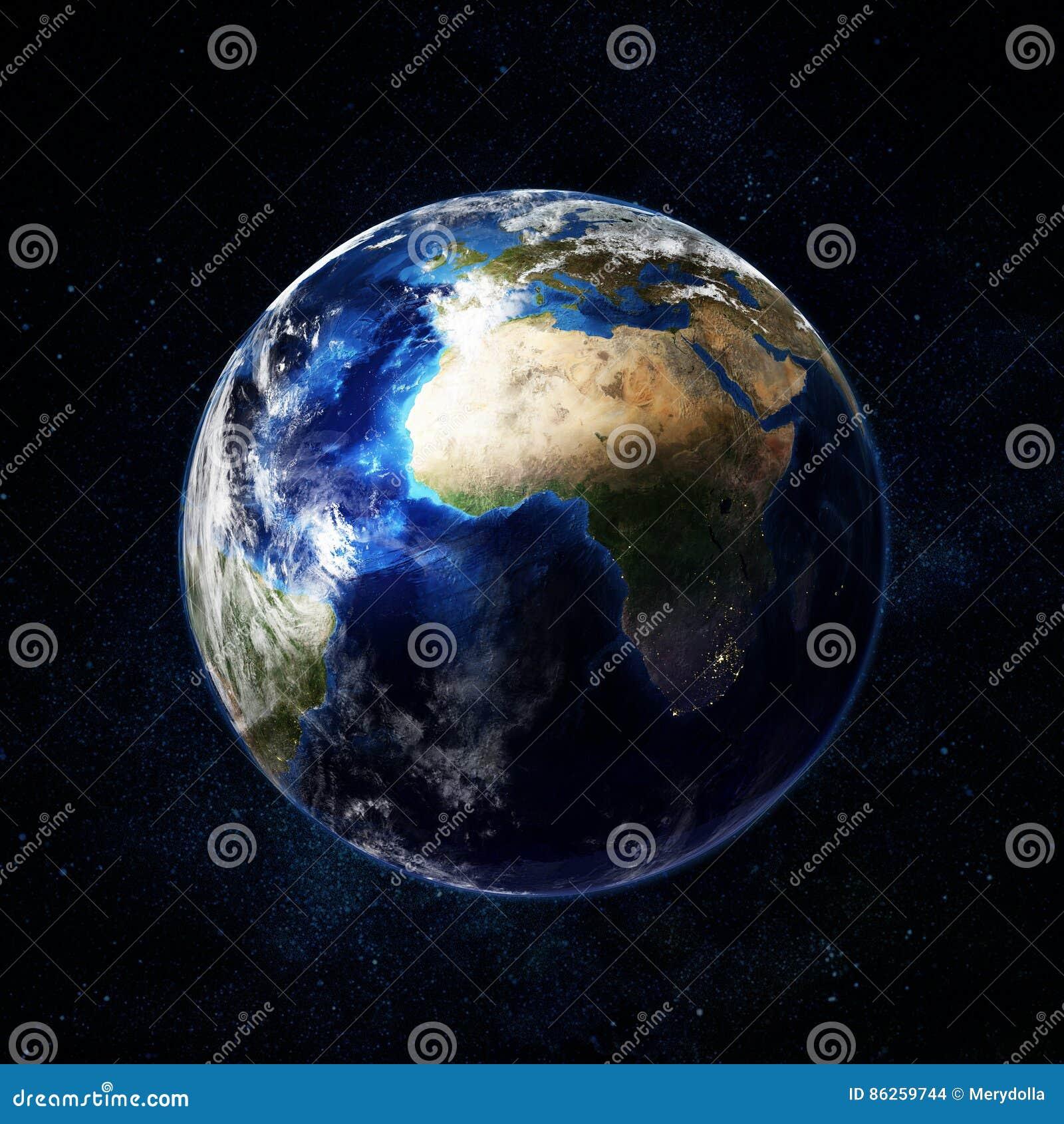 Όμορφη γη στο διάστημα