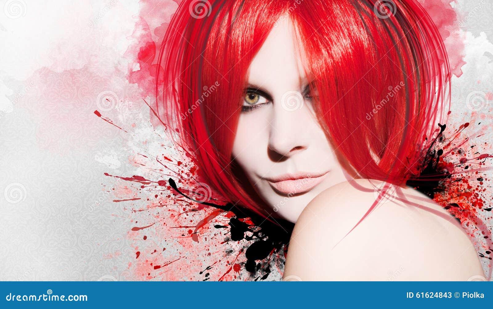 Όμορφη γυναίκα σε ένα ζωηρόχρωμο υπόβαθρο