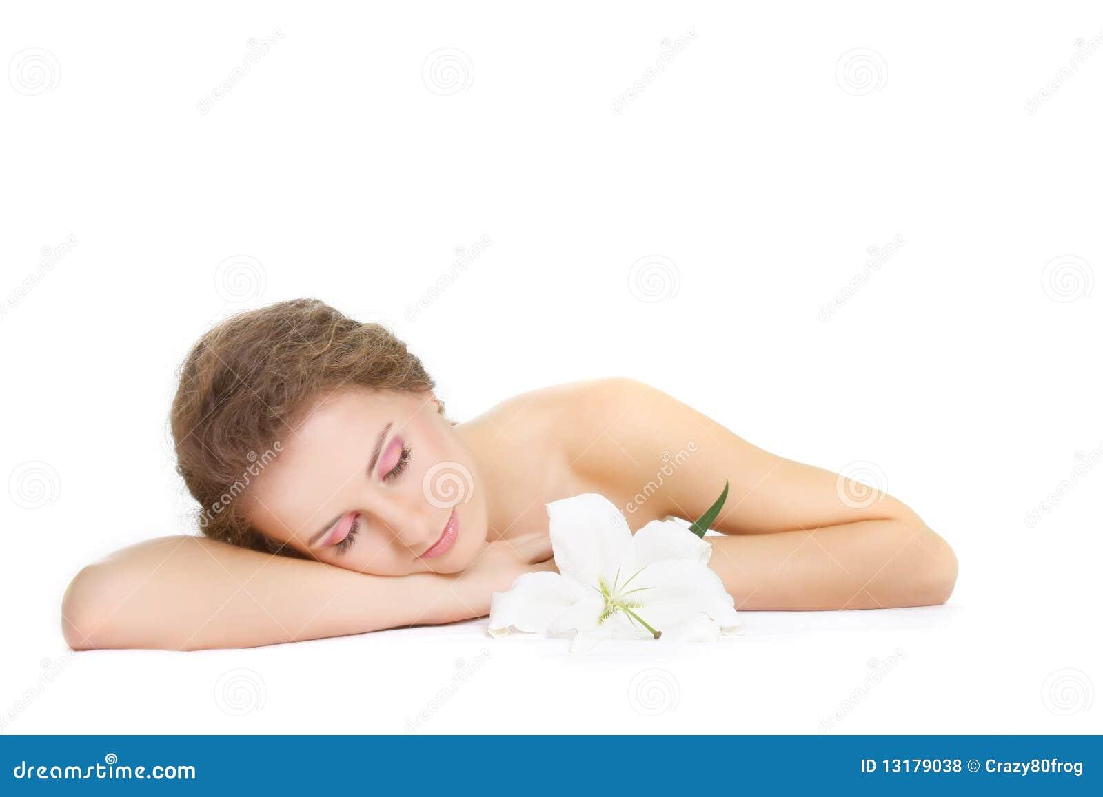 όμορφη γυναίκα ύπνου