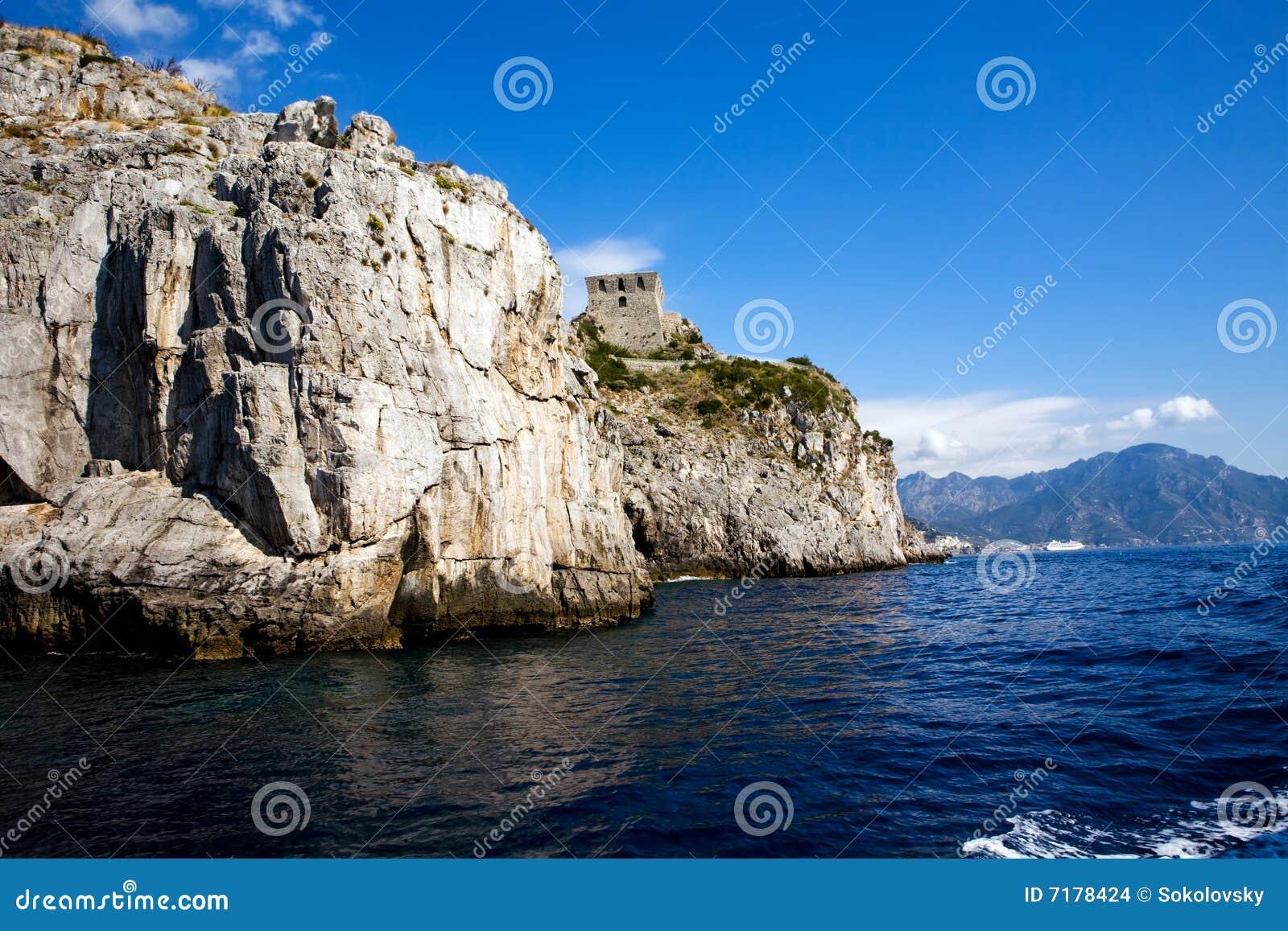 όμορφη όψη costiera amalfitana