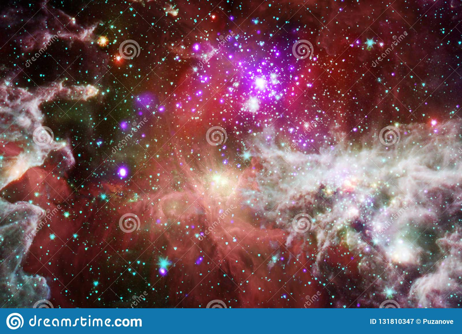 Όμορφος γαλαξίας κάπου στο μακρινό διάστημα Στοιχεία αυτής της εικόνας που εφοδιάζεται από τη NASA