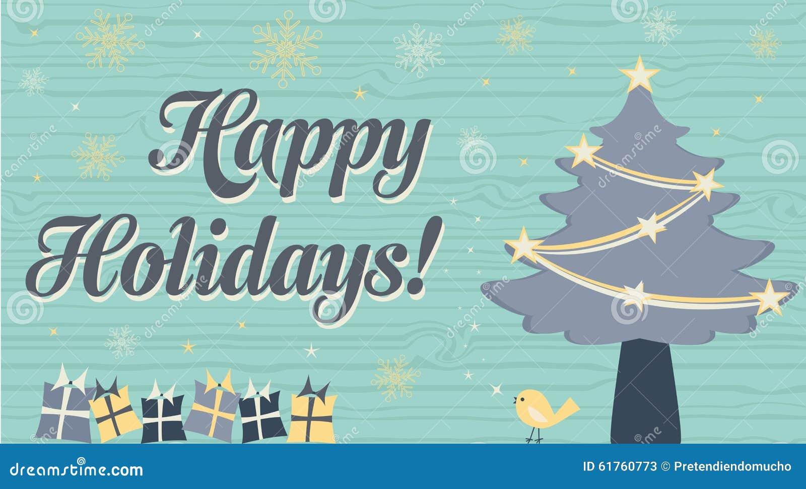 όμορφος eps Χριστουγέννων καρτών 8 τρύγος δέντρων αρχείων συμπεριλαμβανόμενος απεικόνιση