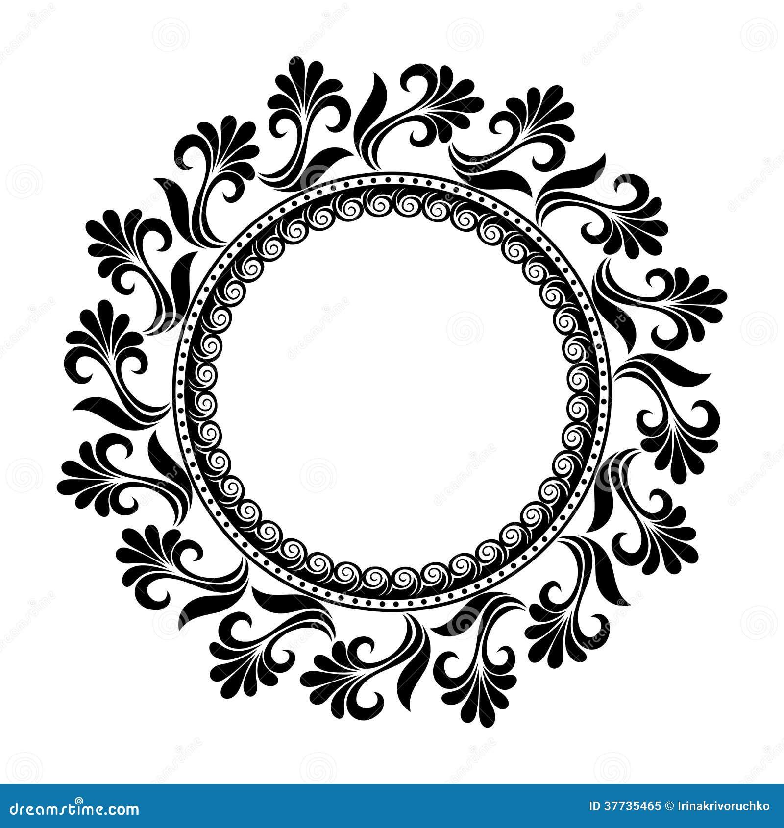 Όμορφος Floral κύκλος Deco (διάνυσμα)