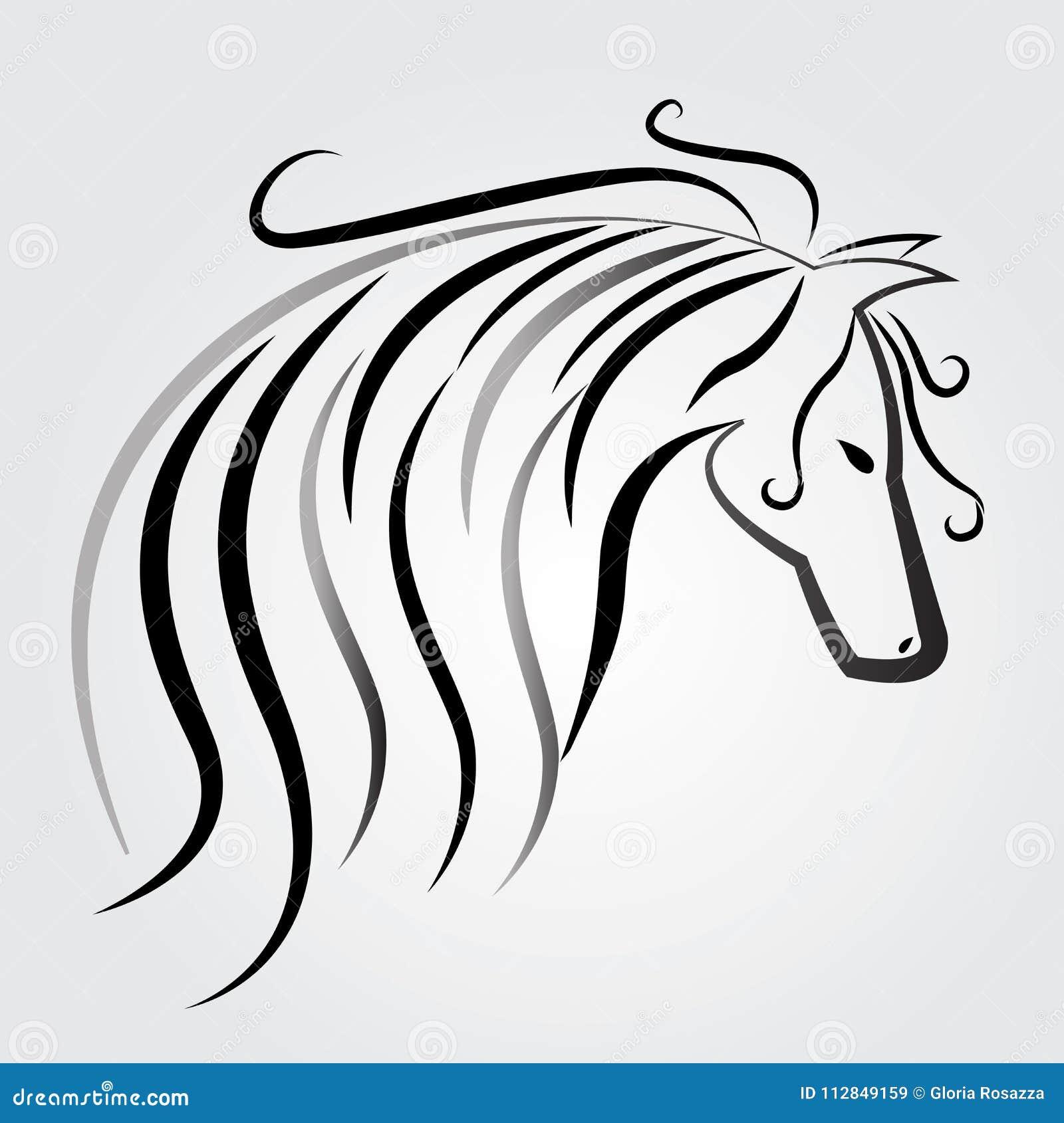 Όμορφο αλόγων διάνυσμα εικόνας ετικετών συμβόλων δελτίων ταυτότητας λογότυπων διανυσματικό