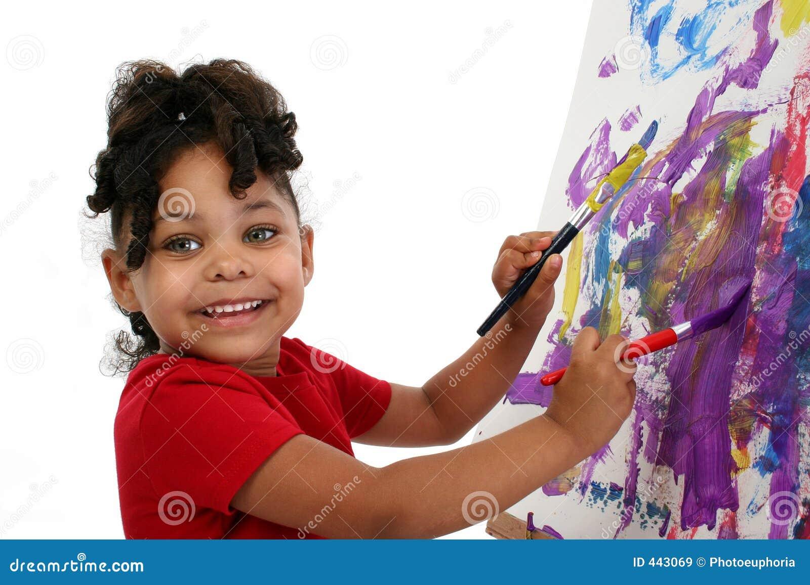 όμορφο κορίτσι λίγη ζωγρα&