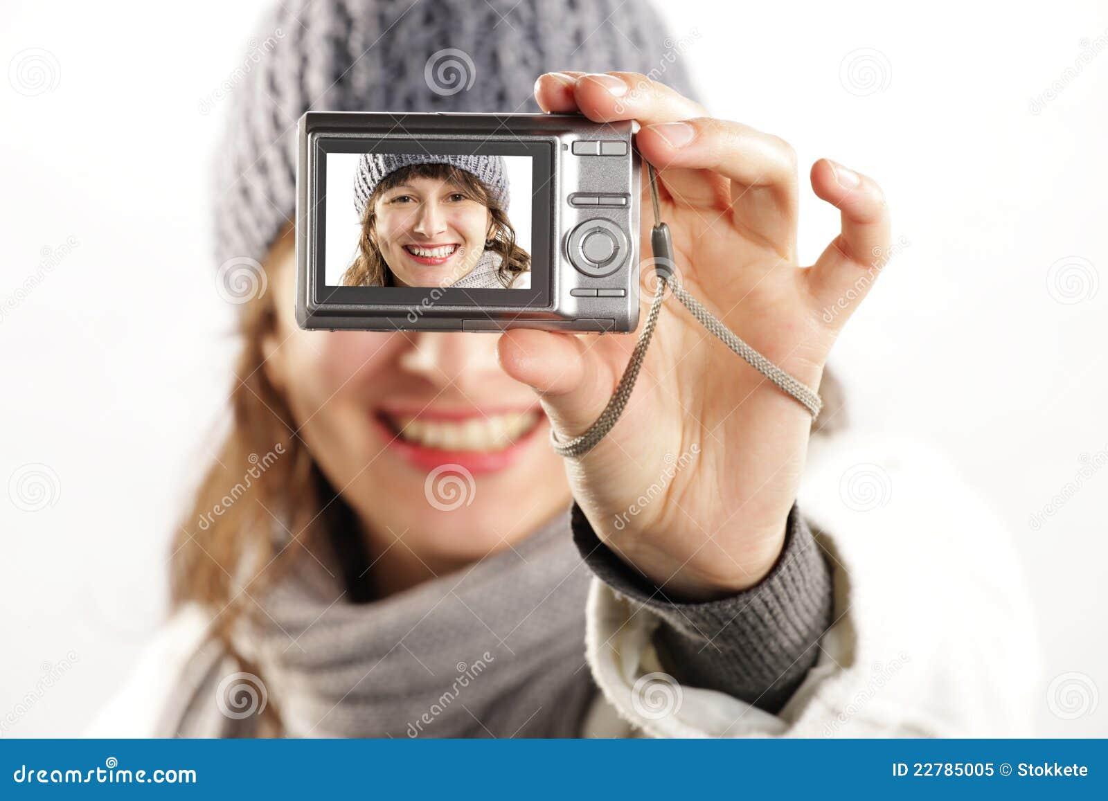 όμορφο κορίτσι φωτογραφ&iota