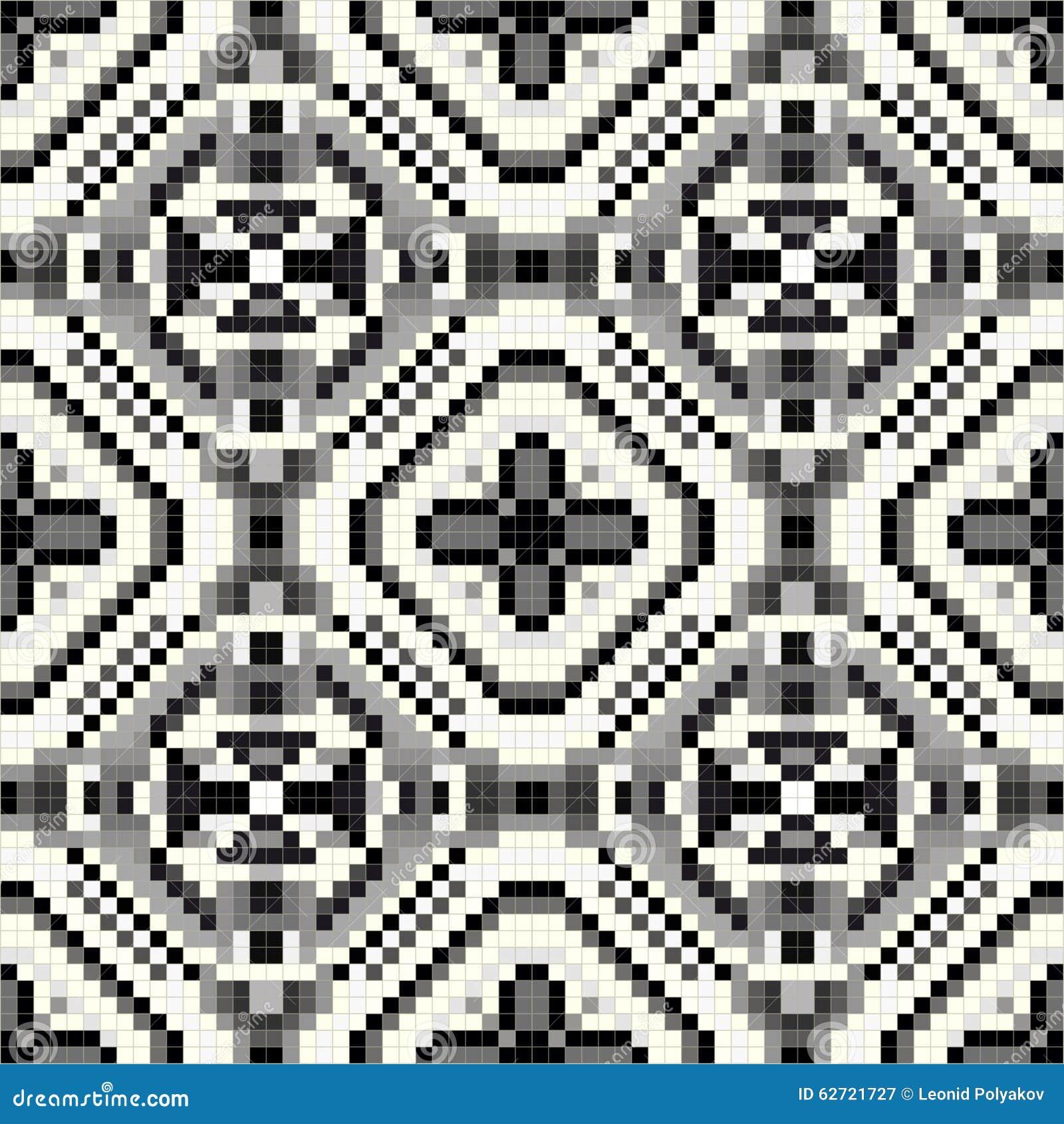 Όμορφο μονοχρωματικό άνευ ραφής γεωμετρικό σχέδιο εικονοκυττάρου