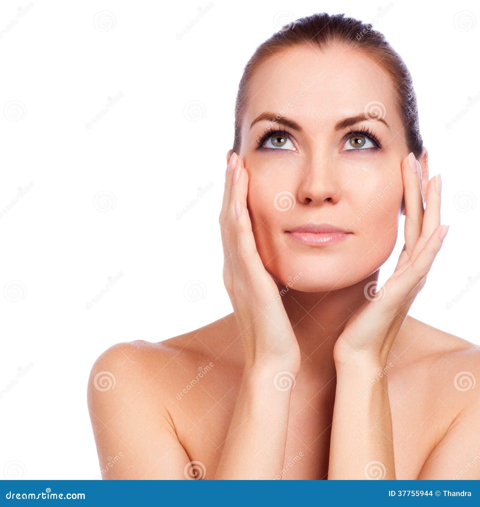 όμορφο πρόσωπο αυτή σχετι&ka Φρέσκο υγιές δέρμα