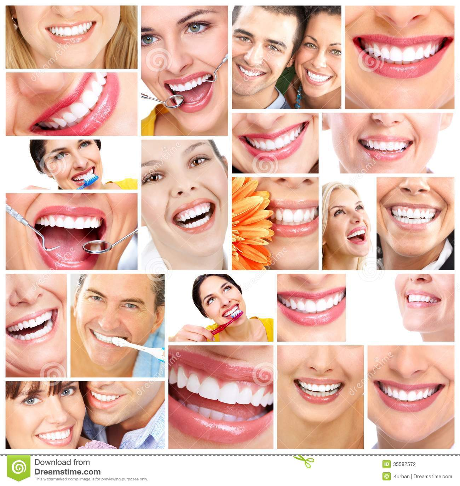 Όμορφο χαμόγελο γυναικών.