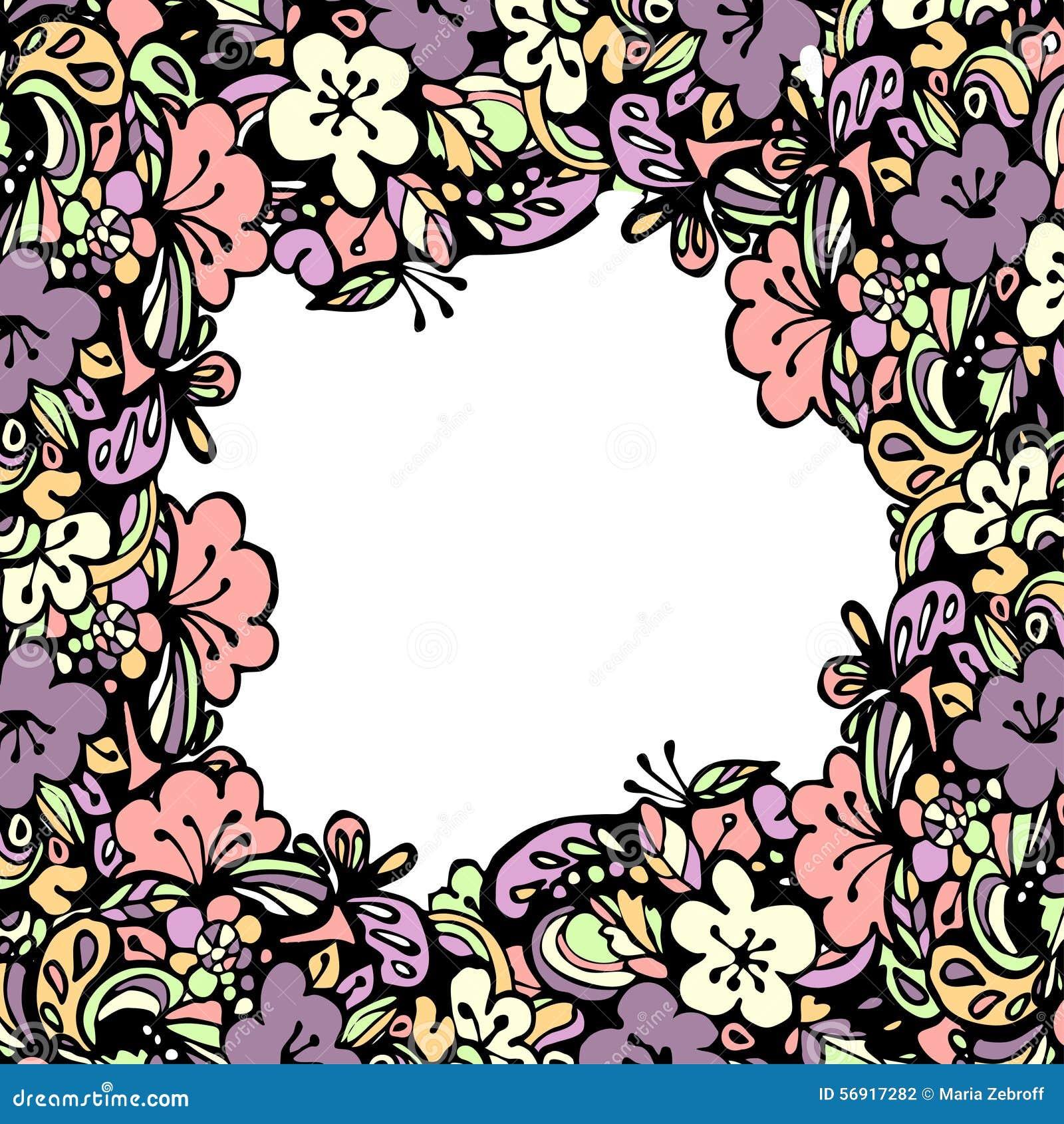 Όμορφο floral πλαίσιο