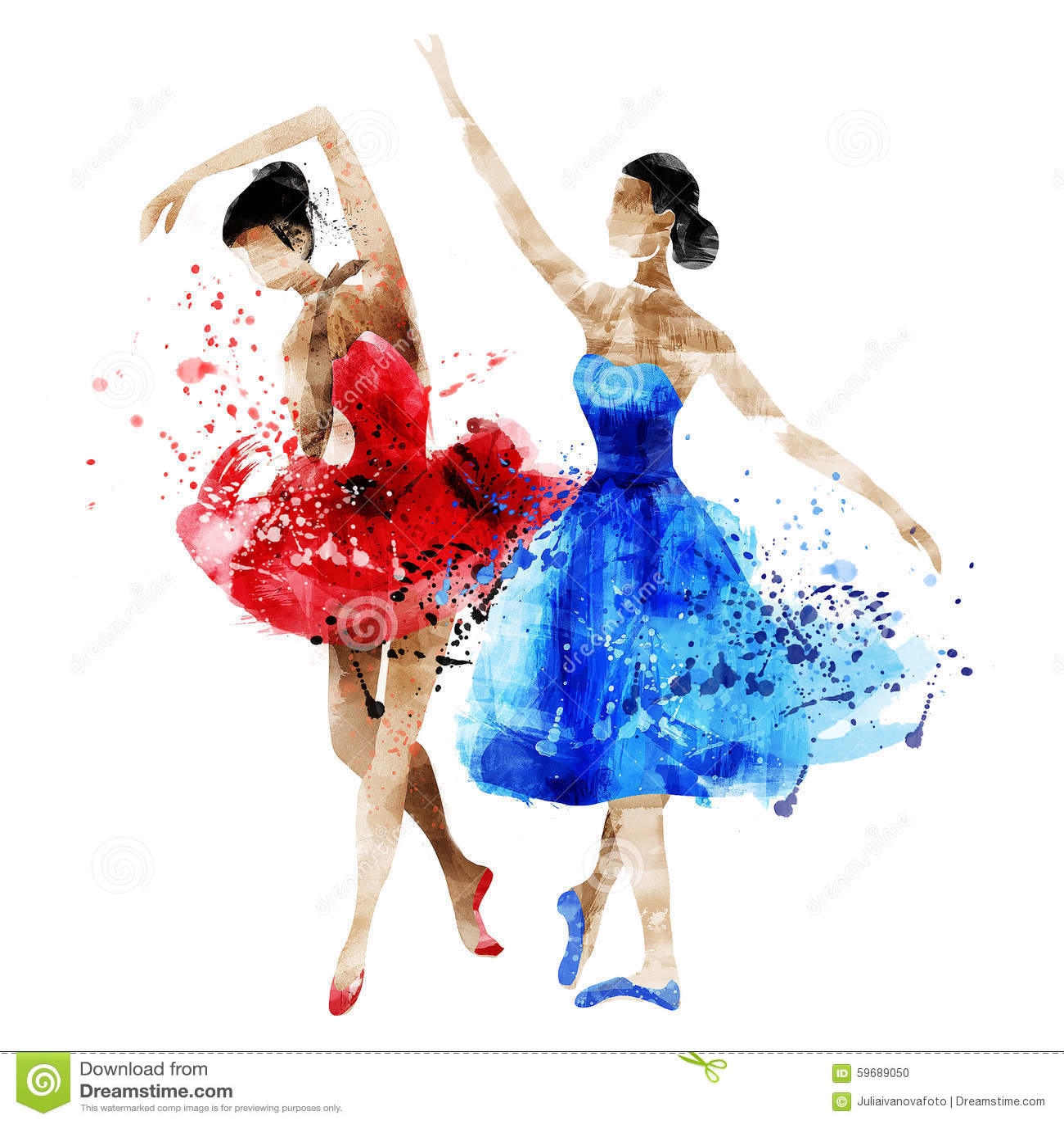 46c1bdd0622 Όμορφο Watercolor Watercolor Ballerina χορού Απεικόνιση αποθεμάτων ...
