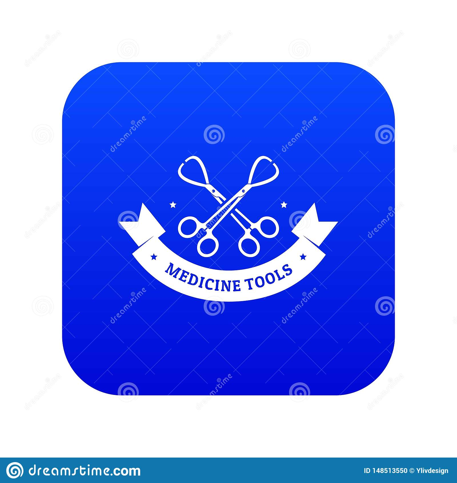 Όργανο για το μπλε διάνυσμα εικονιδίων ιατρικής