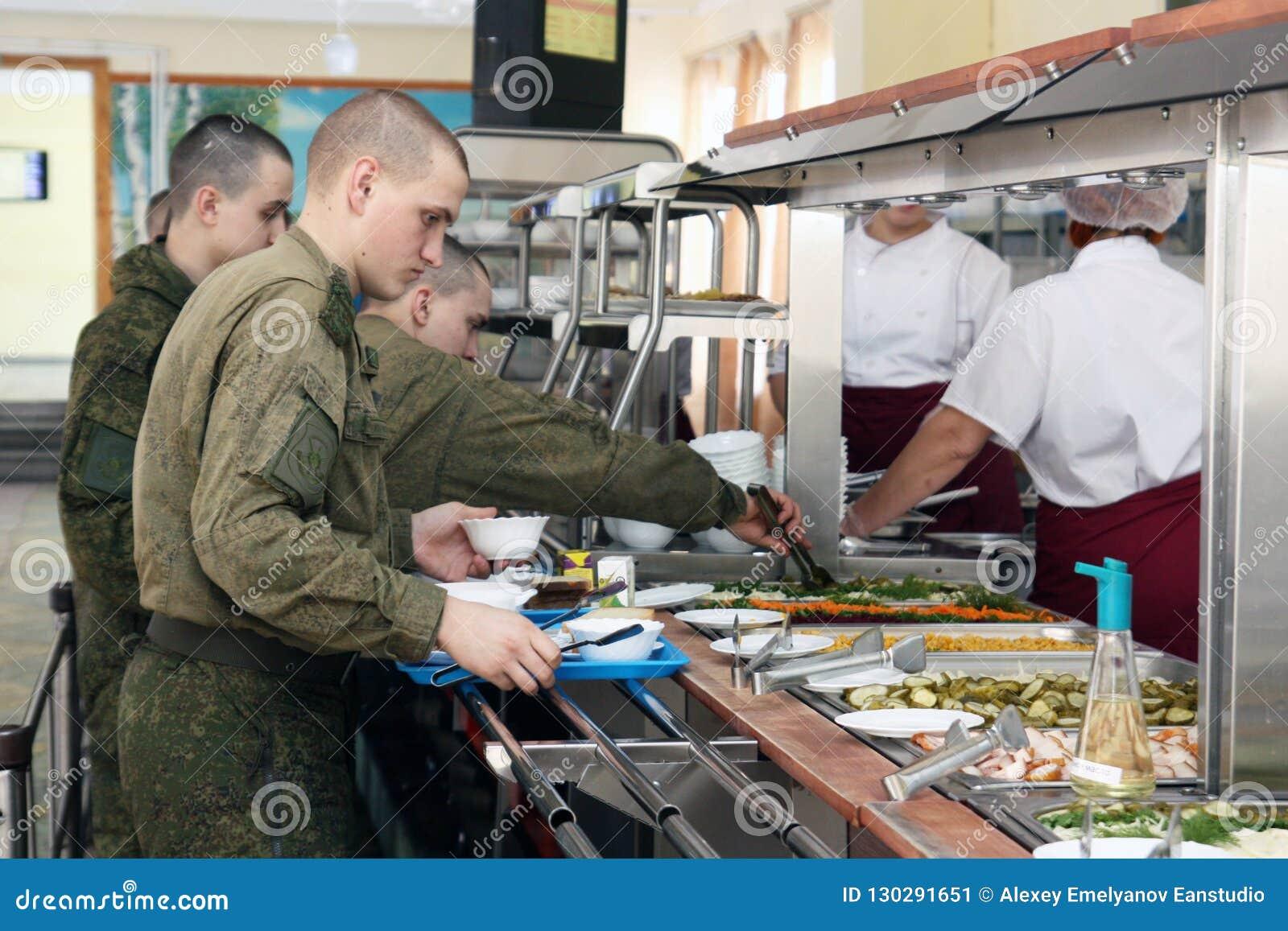 Όρενμπουργκ, Ρωσία, τραπεζαρία σε μια στρατιωτική μονάδα 05 16 2008