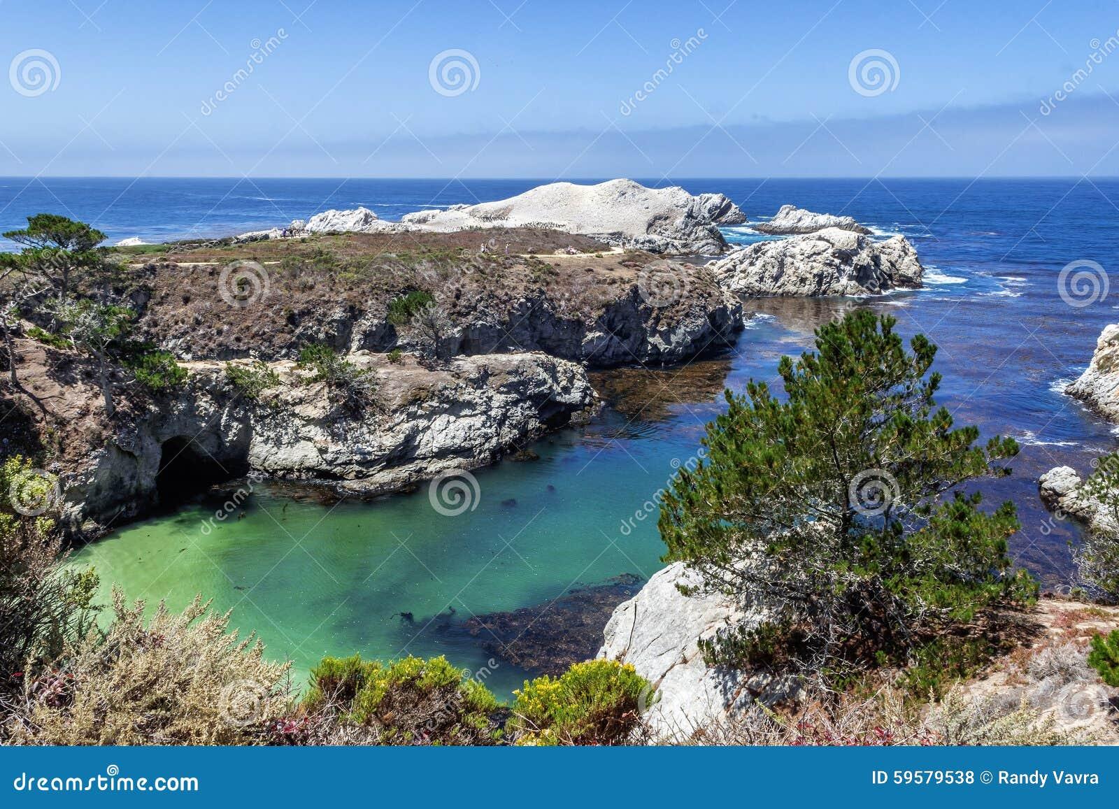 Όρμος/παραλία της Κίνας στην κρατική φυσική επιφύλαξη Lobos σημείου